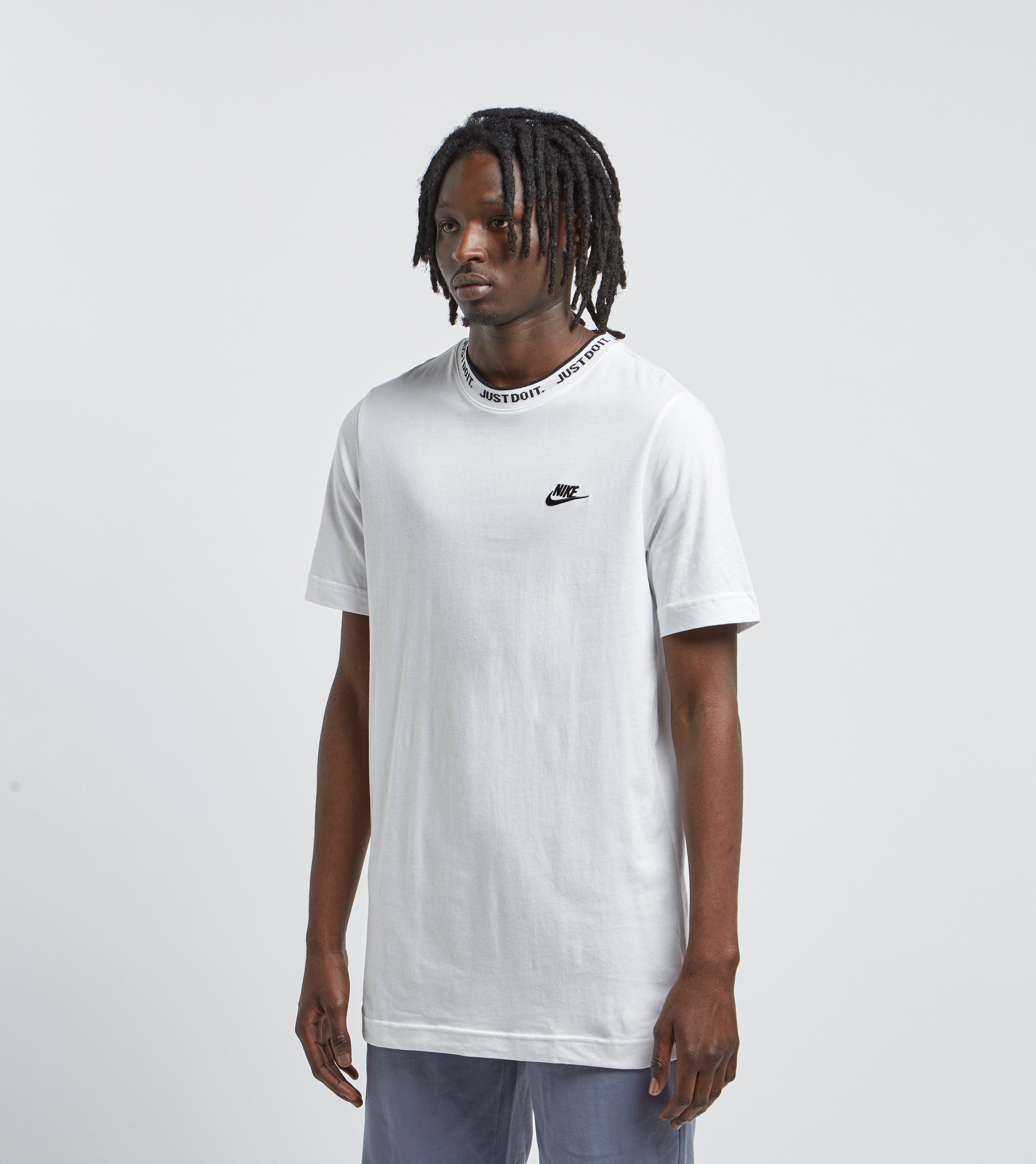 ed1eaa4b9c2b3 Men's White Just Do It Neck Short Sleeve T-shirt