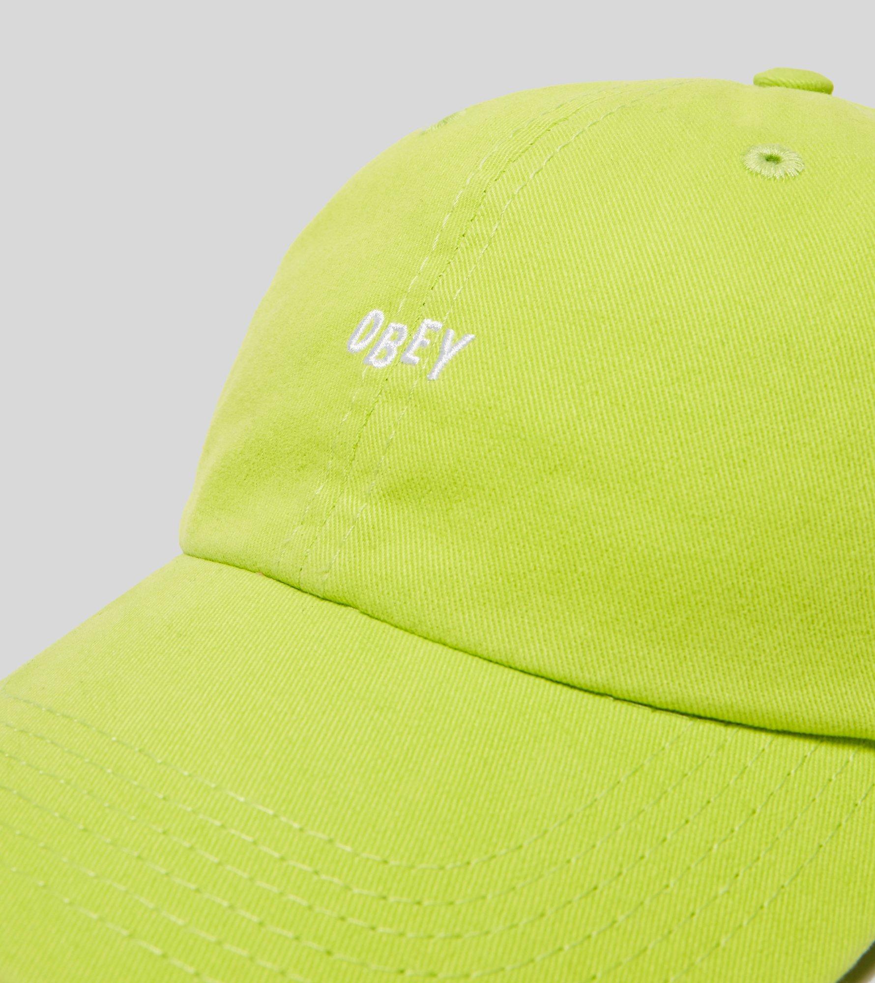 Obey Jumble Bar Strapback Cap in Green for Men - Lyst d5b07a72cf35