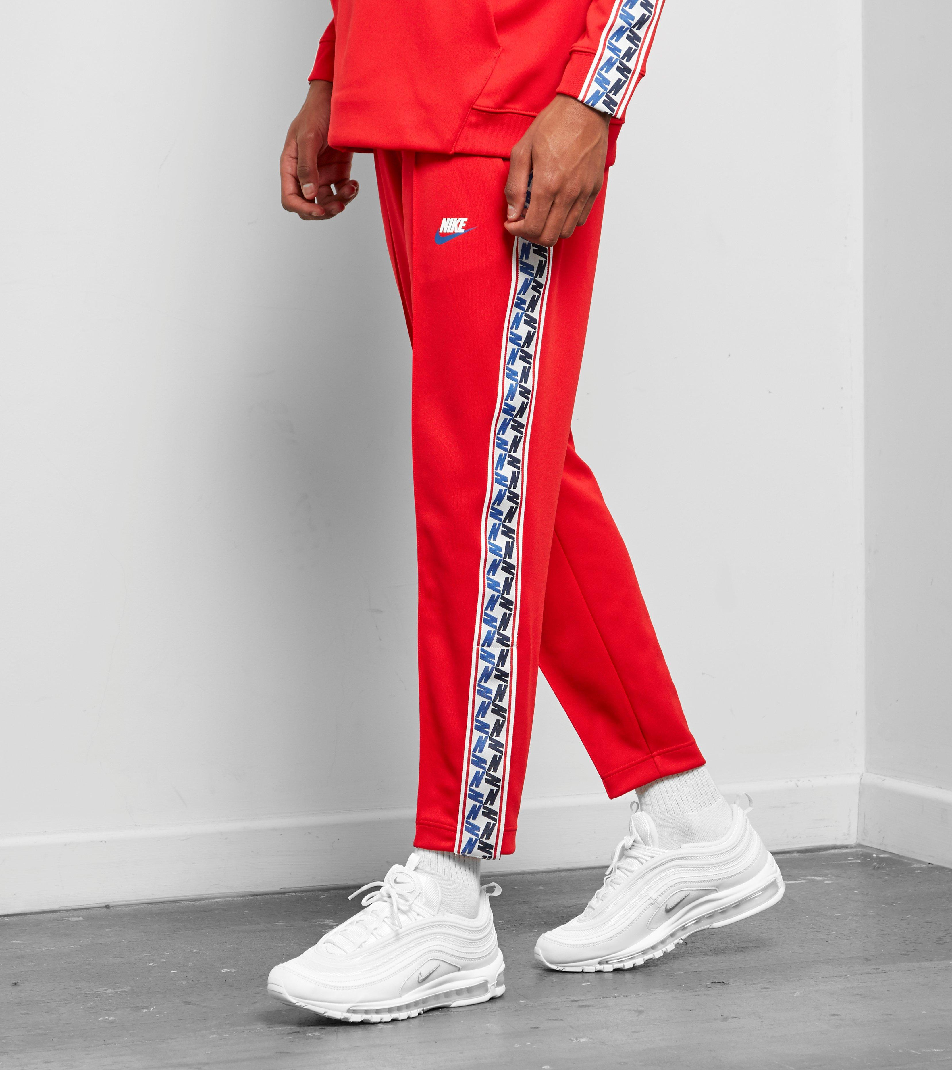 4e29e26ef0c8 Nike Taped Poly Track Pants in Red for Men - Lyst