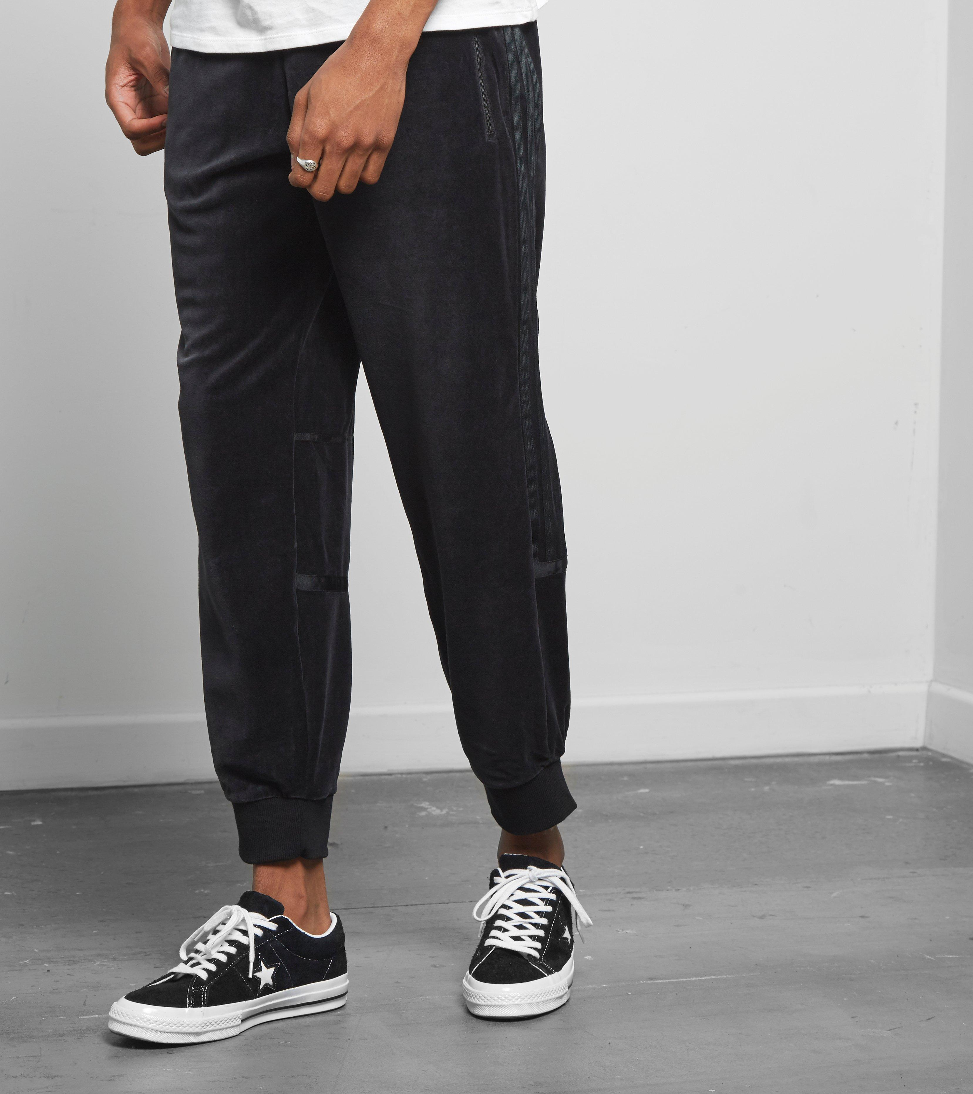 adidas challenger track pants velour