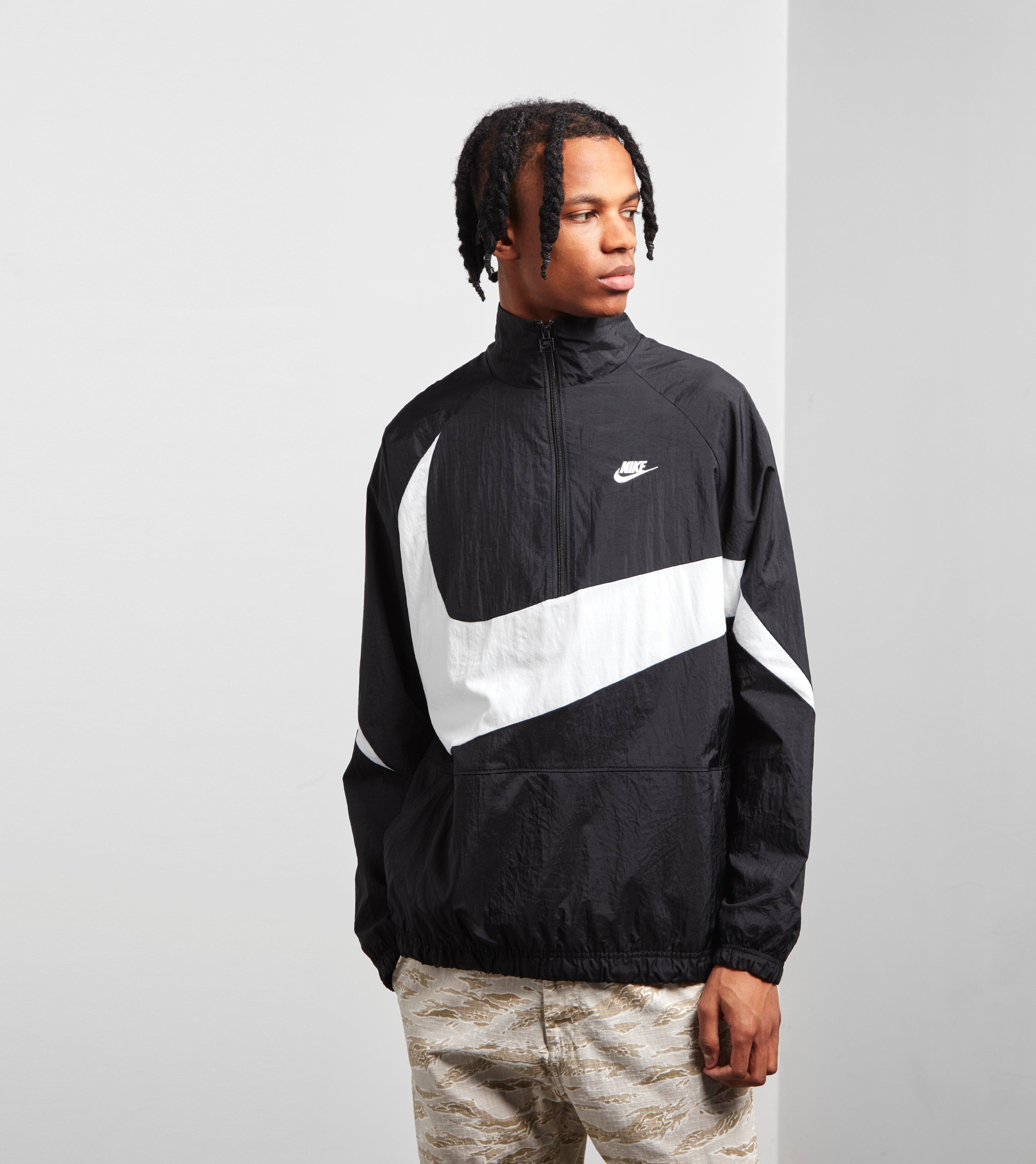 d54889912 Nike Swoosh Half Zip Woven Jacket in Black for Men - Lyst
