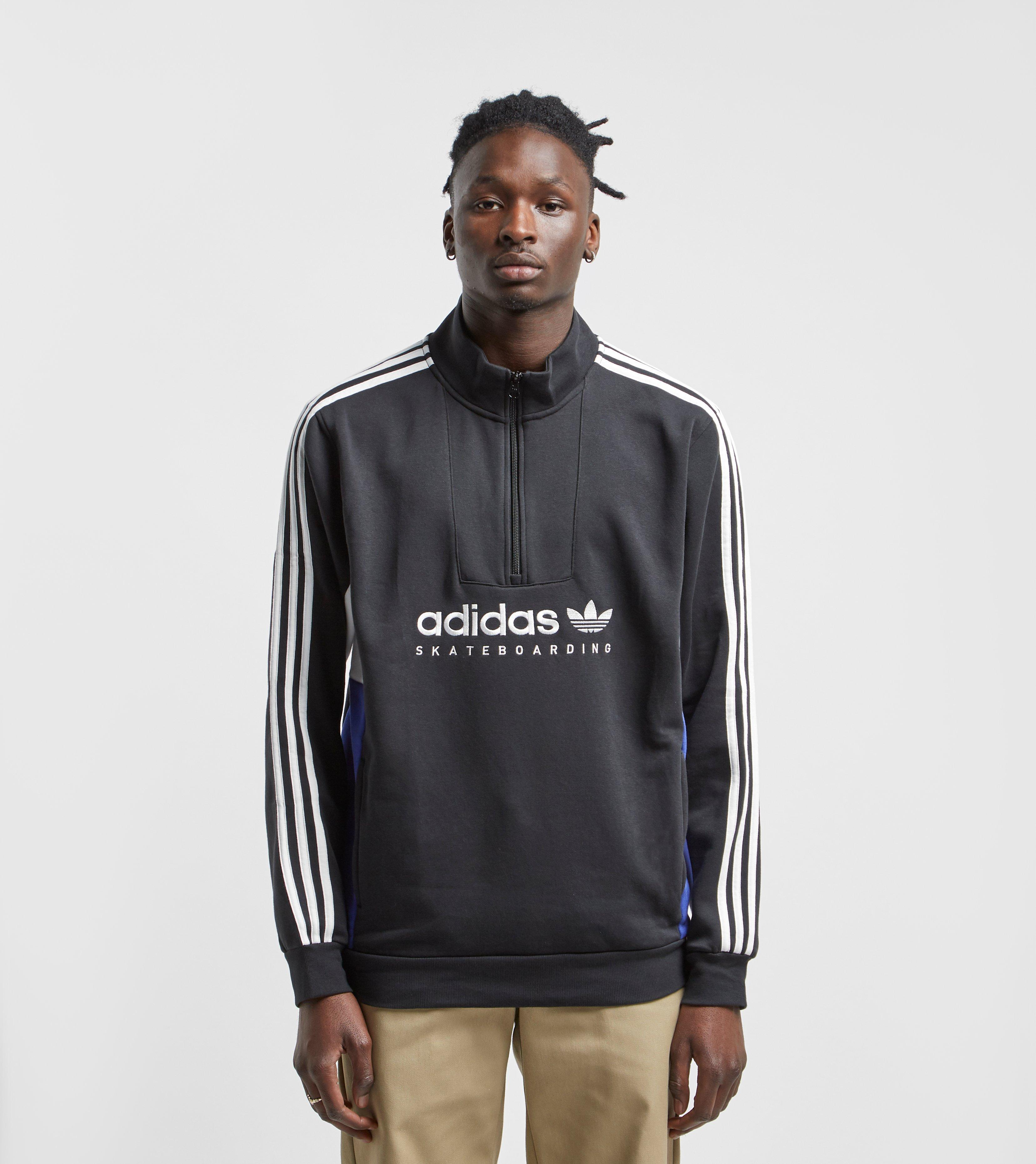 Black For Apian Pullover Half Zip Sweatshirt Originals Adidas Men 0wOk8PnX