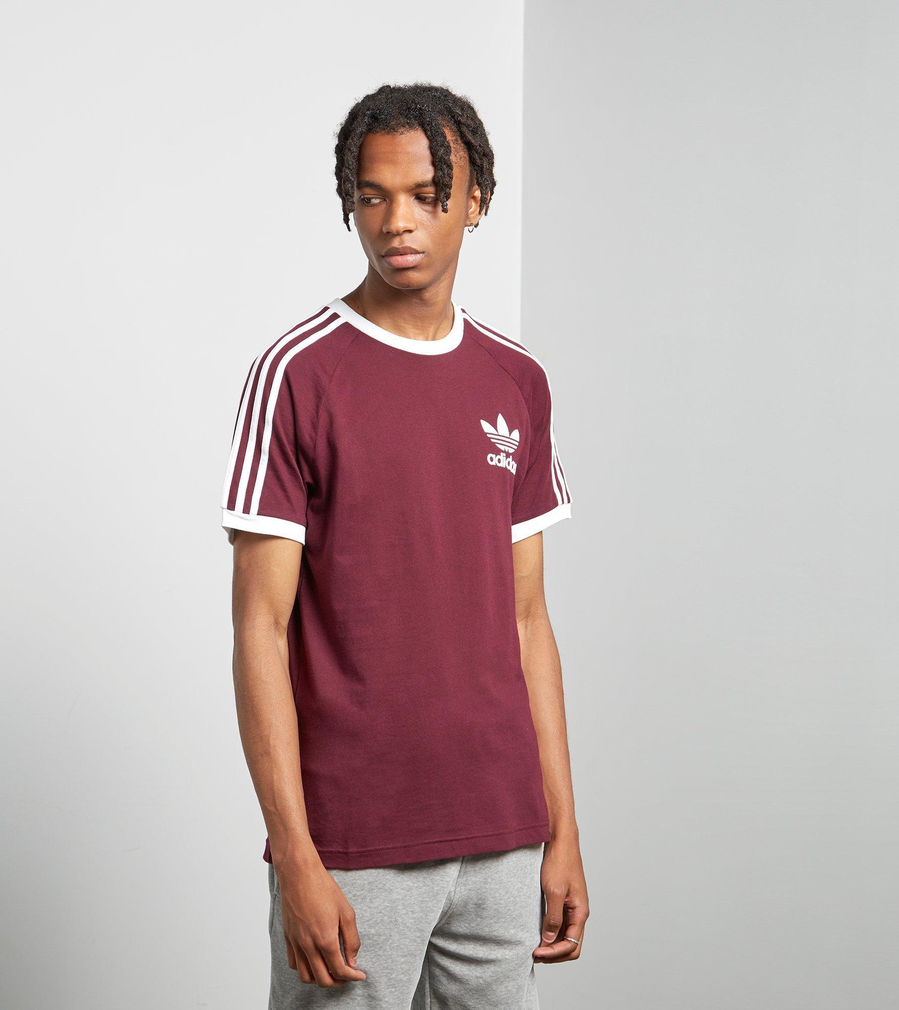 7b58ee3890c Adidas Originals California Short Sleeve T-shirt in Red for Men - Lyst