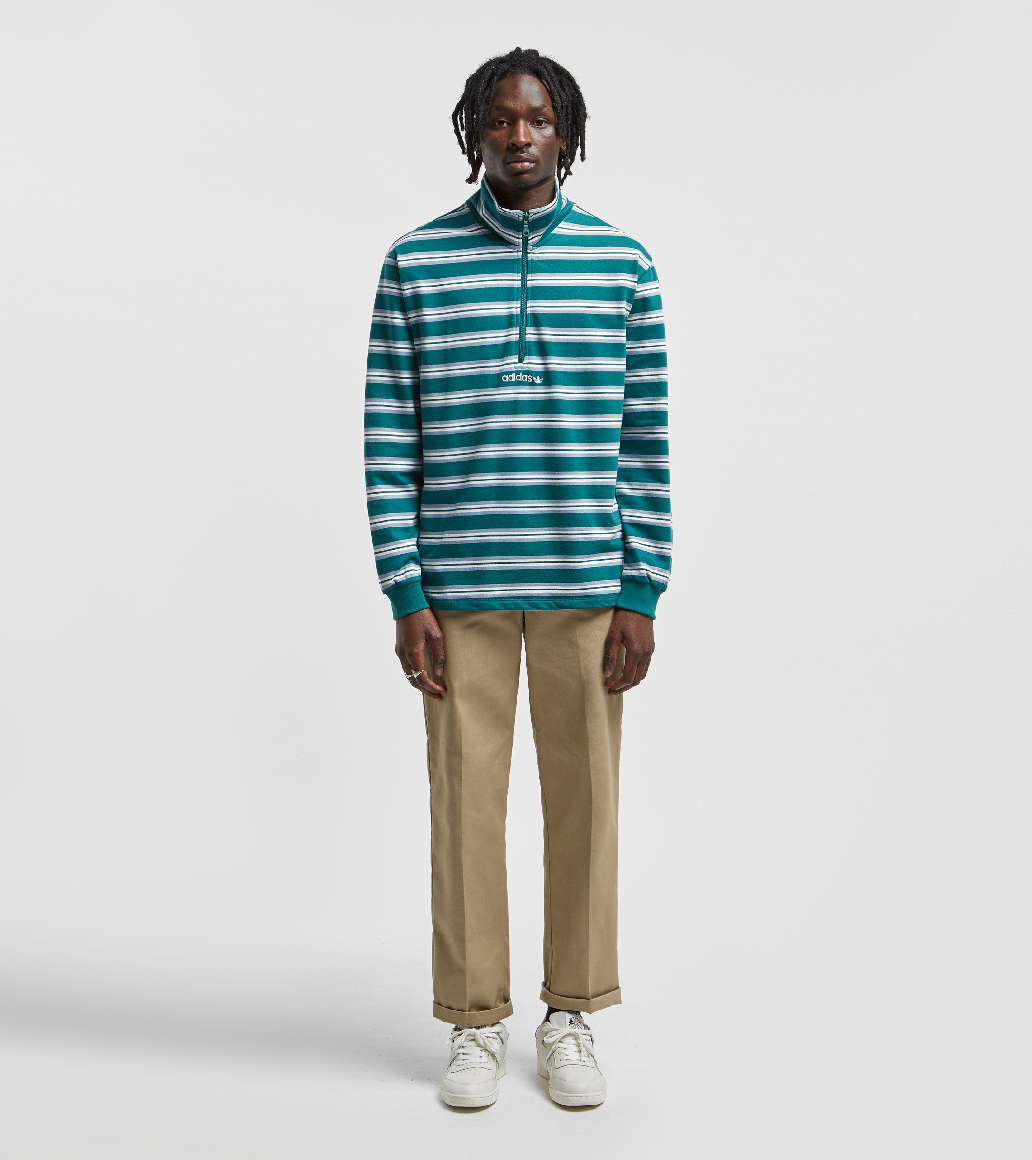 size? adidas Originals St. Peter Half Zip Sweatshirt