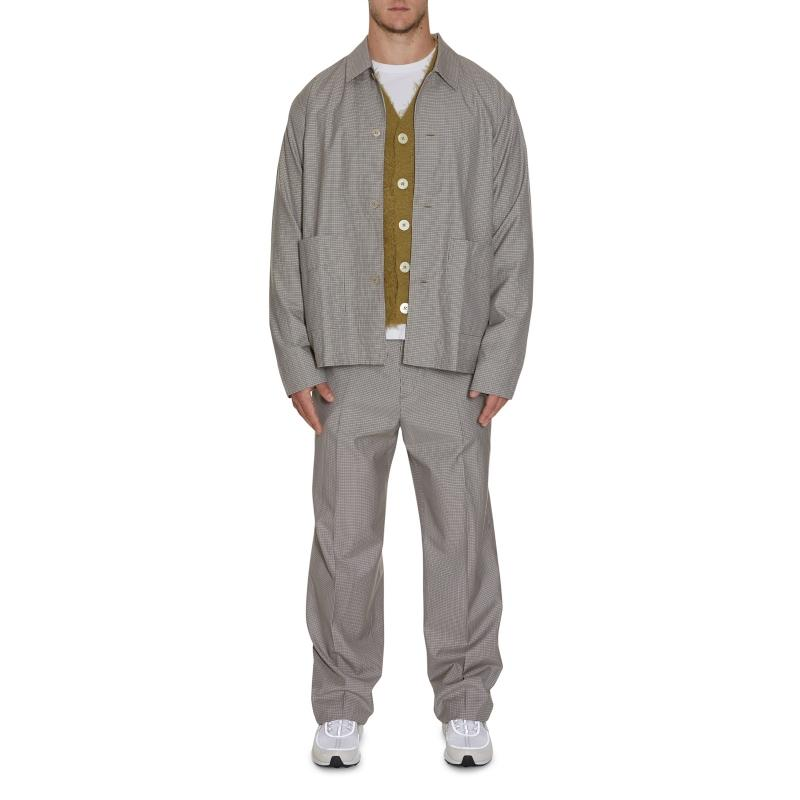 Our Legacy Wool Archive Box Chefs Herringbone 24 Chino Pants Grey in Grey for Men