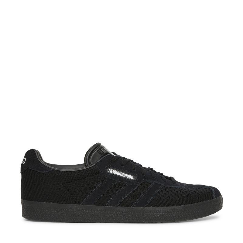 lyst adidas originali quartiere gazzella super sneakers in nero