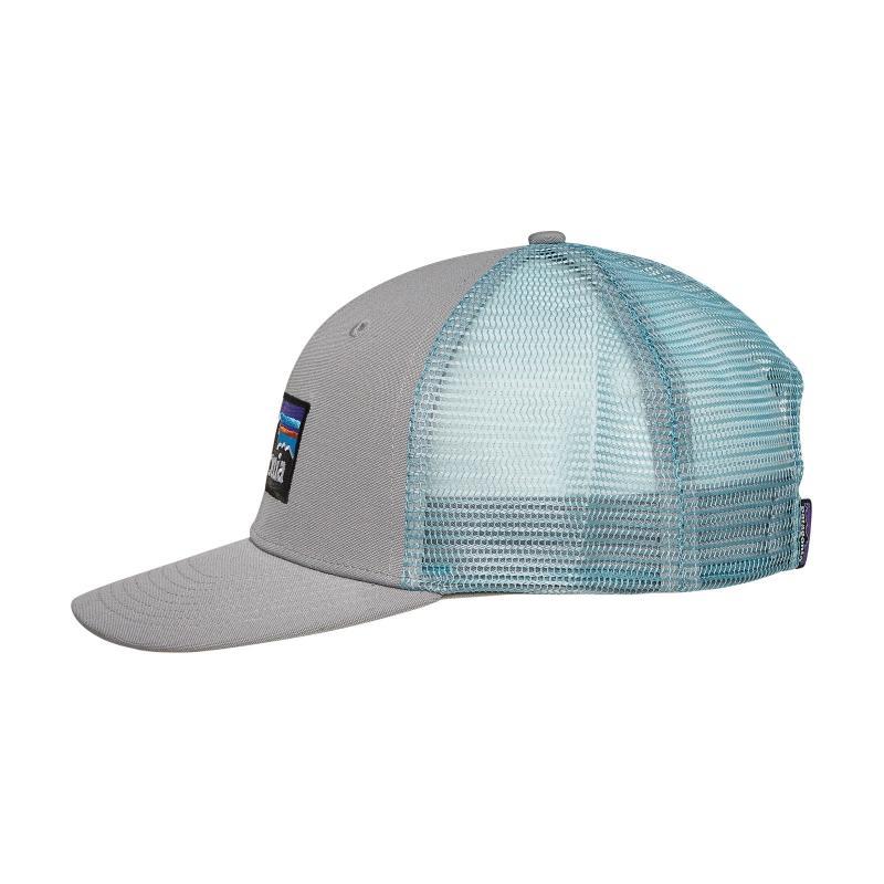 Patagonia - Gray P-6 Logo Trucker Hat Drigter Grey dam Blue for Men. View  fullscreen f92472701ed2