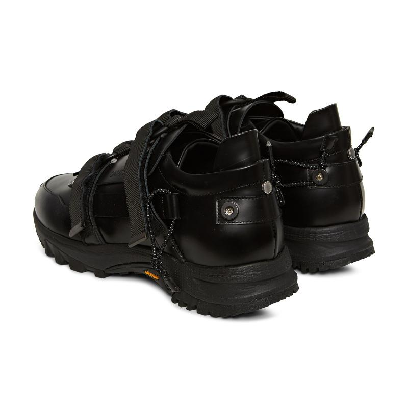 OAMC Leather Tactical Sneakers in Black