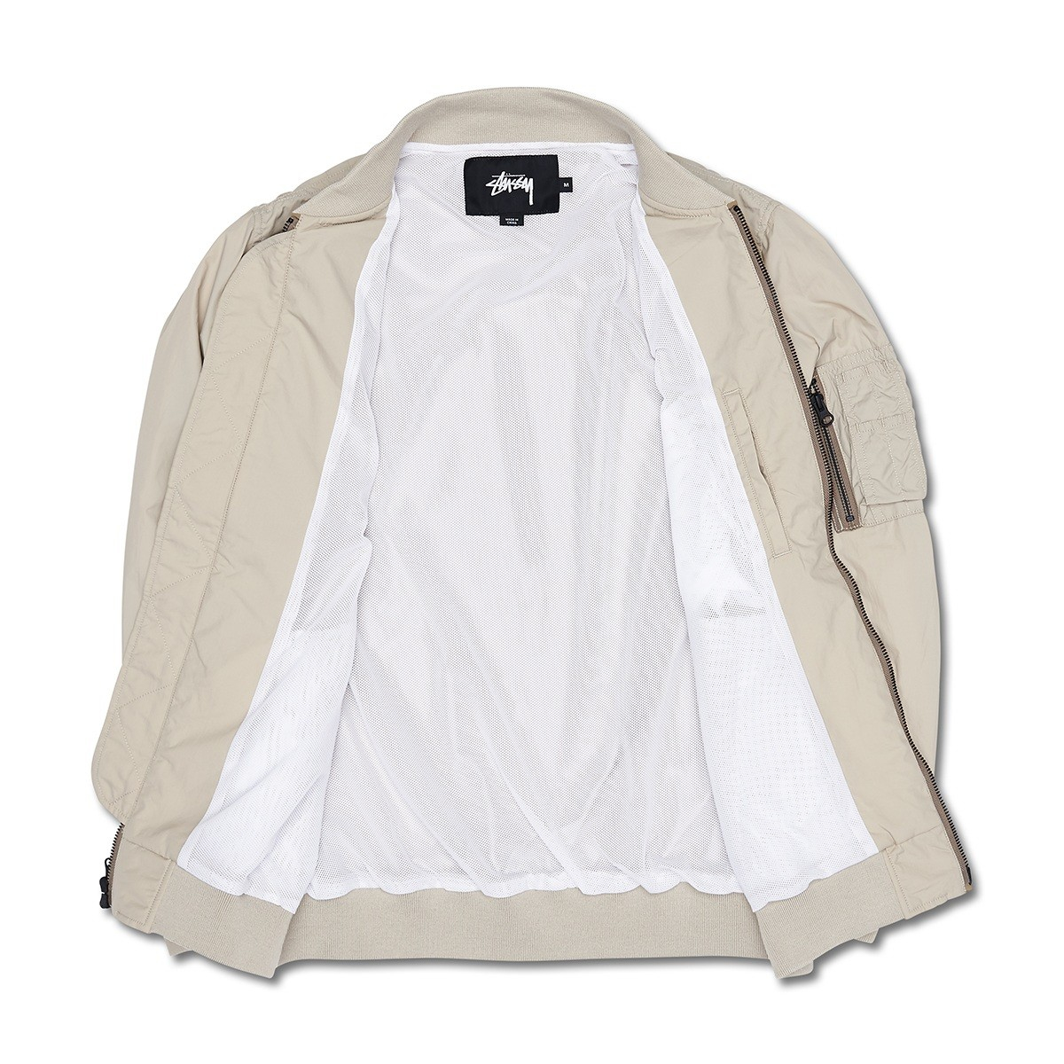 Stussy Synthetic Nylon Bomber Jacket in Beige (Grey) for Men