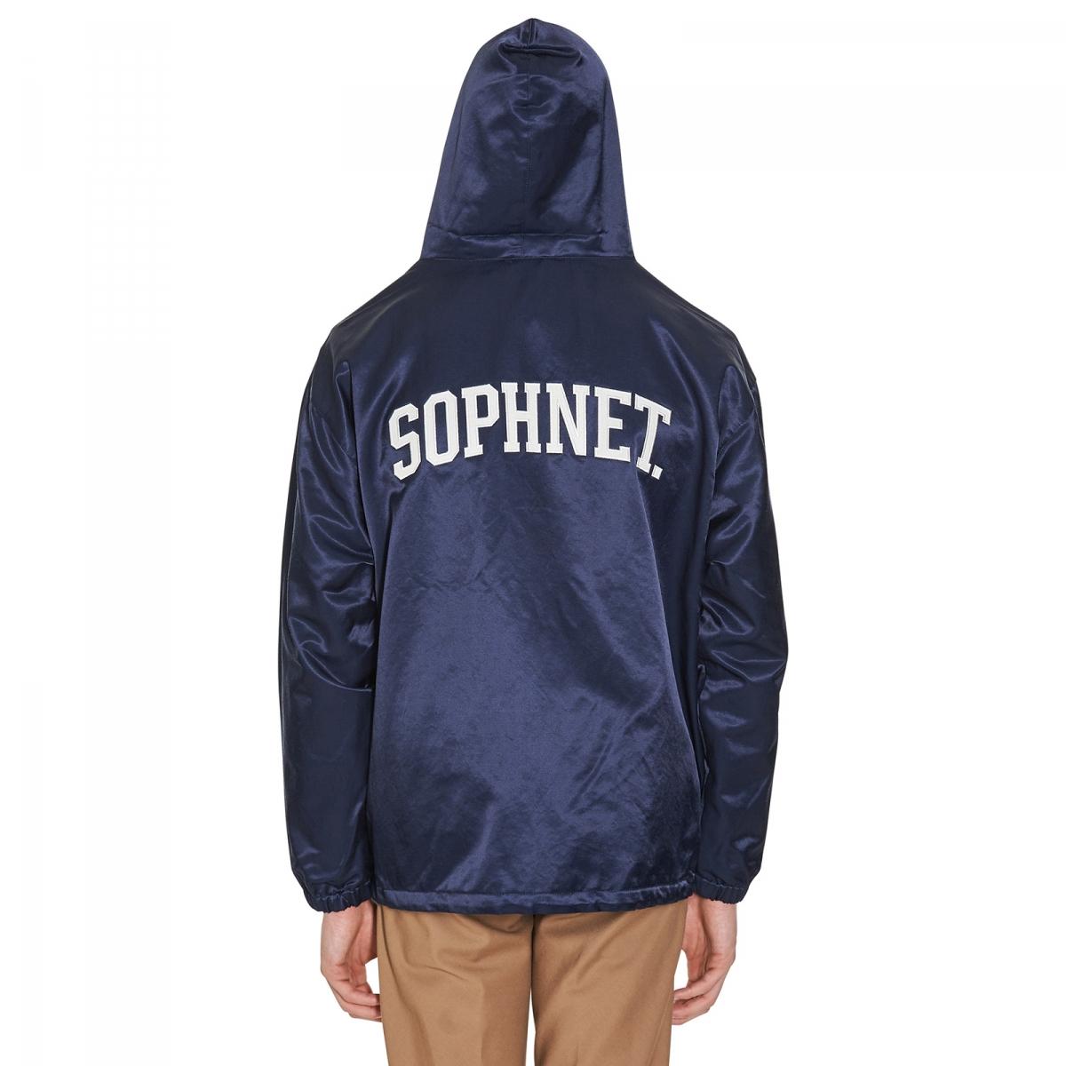 Sophnet Zip Up Anorak Back Arch Logo in Blue for Men