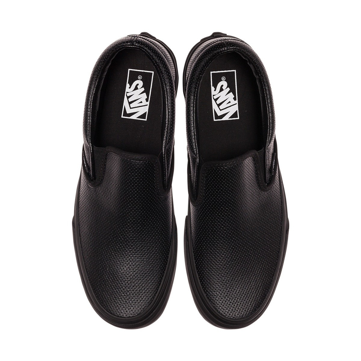 Vans Perforated Leather Classic Slip-on in Black for Men