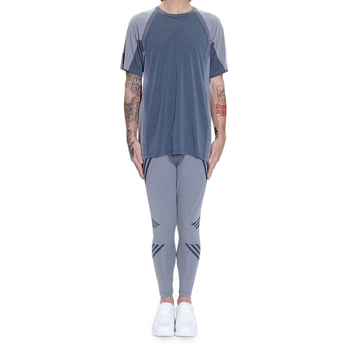 Adidas originals White Mountaineering Knit Tights in Blue ...