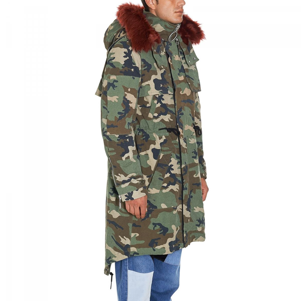 Off-White c/o Virgil Abloh Cotton Camouflage Parka in Green for Men