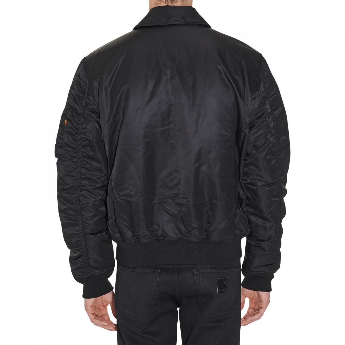 Alpha Industries Cwu 45 Bomber Jacket in Black for Men