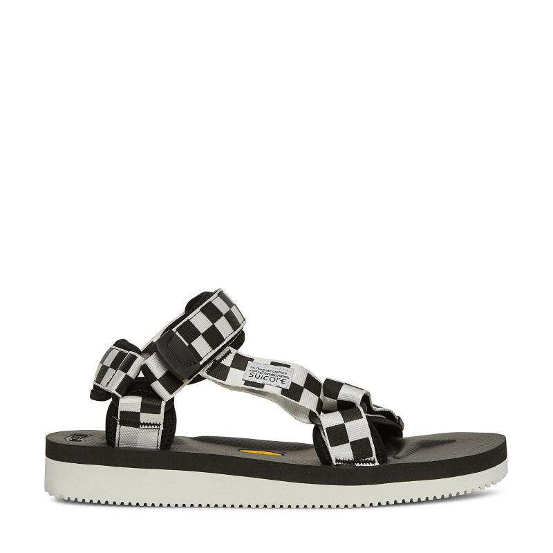 cae5486f5c7d37 Lyst - Suicoke Depa V-2 Checkerboard Sandals in Black - Save 30%