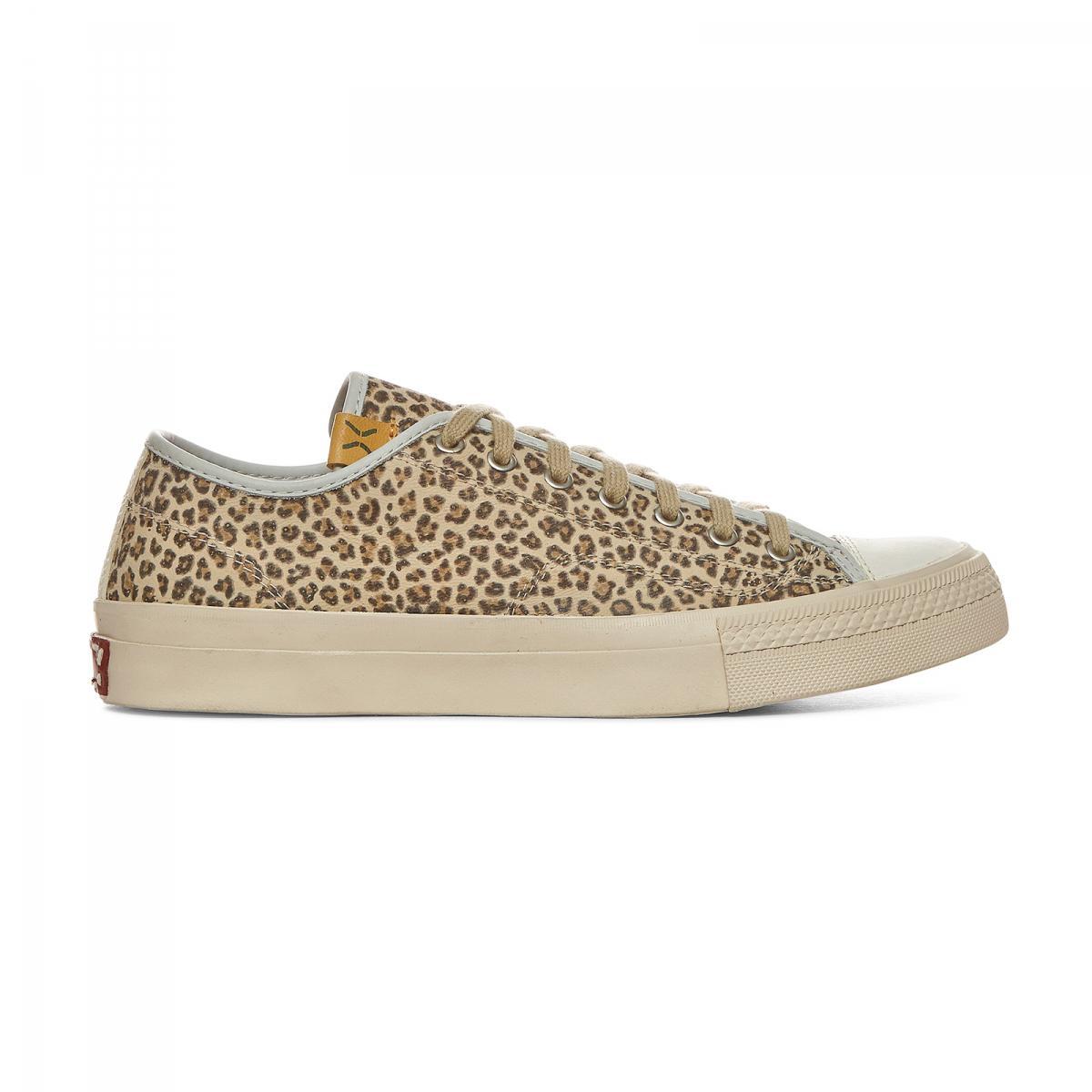 Visvim Leather Skagway Lo Leopard Sneakers