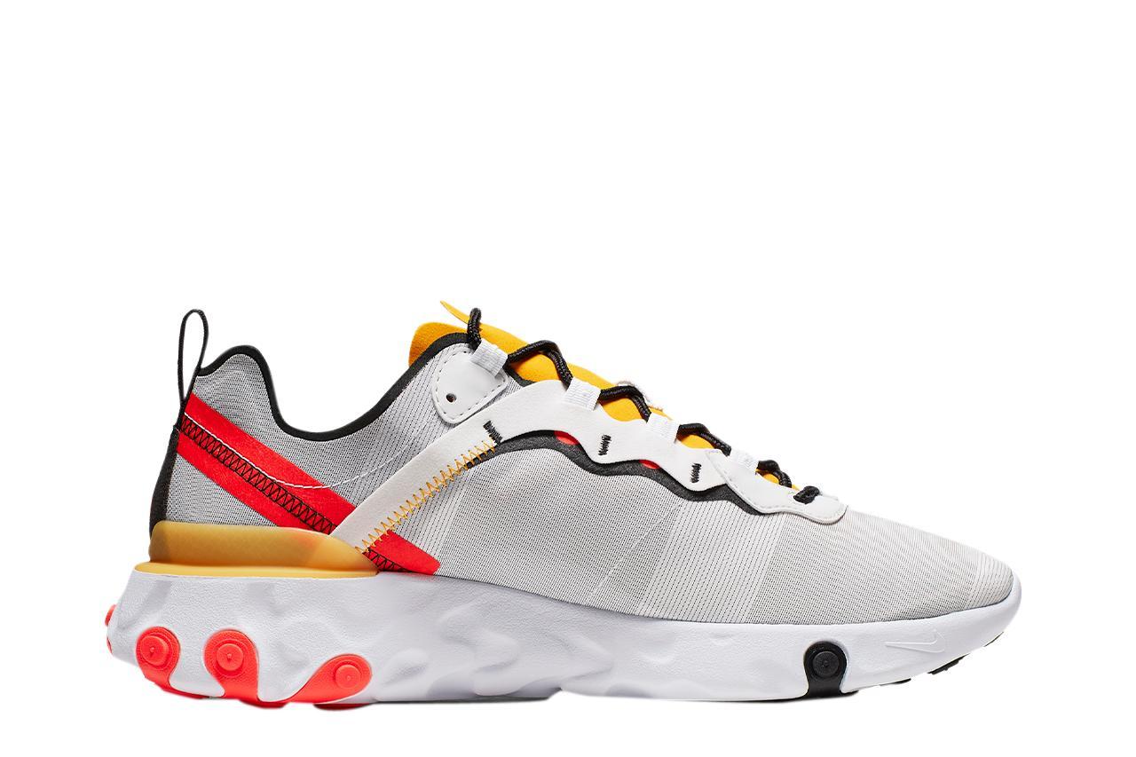 Nike React Element 55 in het Wit voor heren