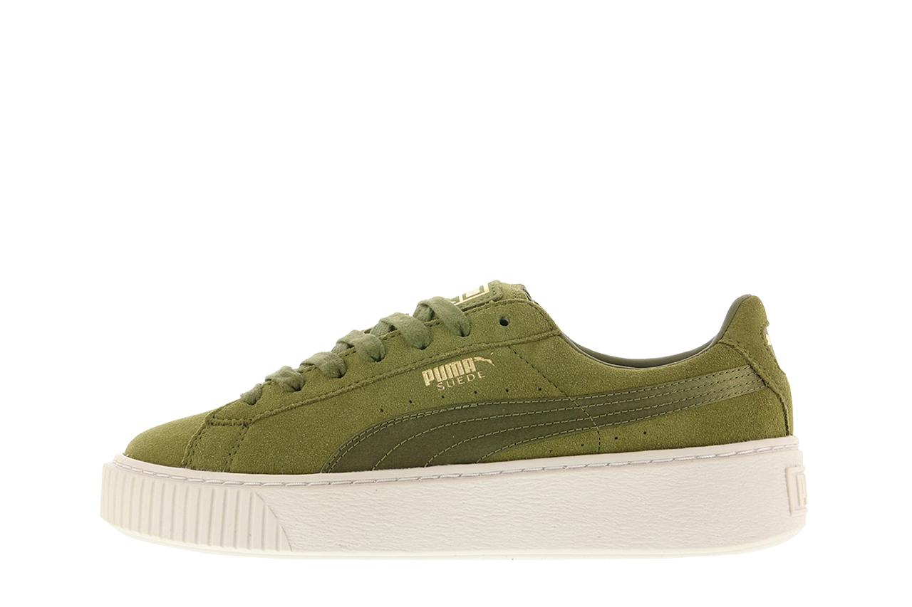 puma suede platform satin wmns in green lyst. Black Bedroom Furniture Sets. Home Design Ideas