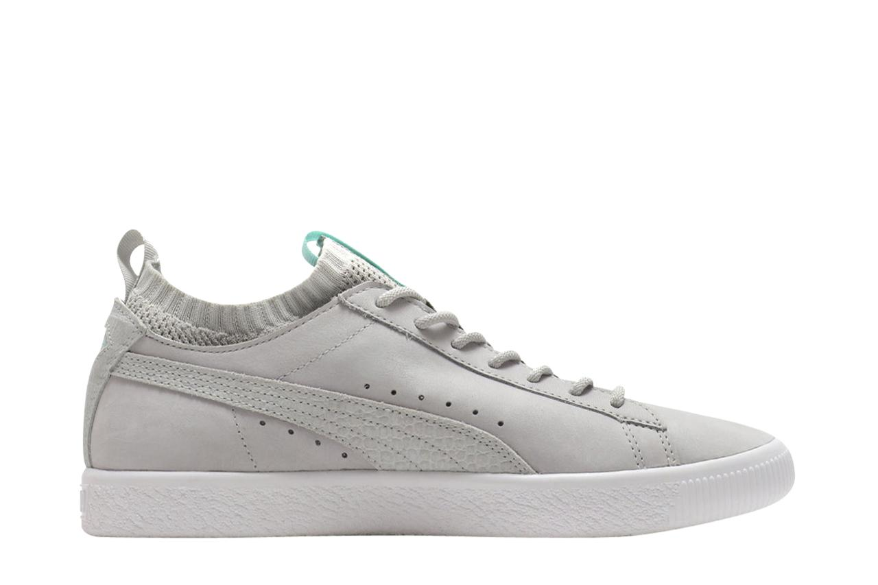 low priced b59a6 edc39 PUMA Clyde Sock Lo X Diamond in Gray for Men - Lyst