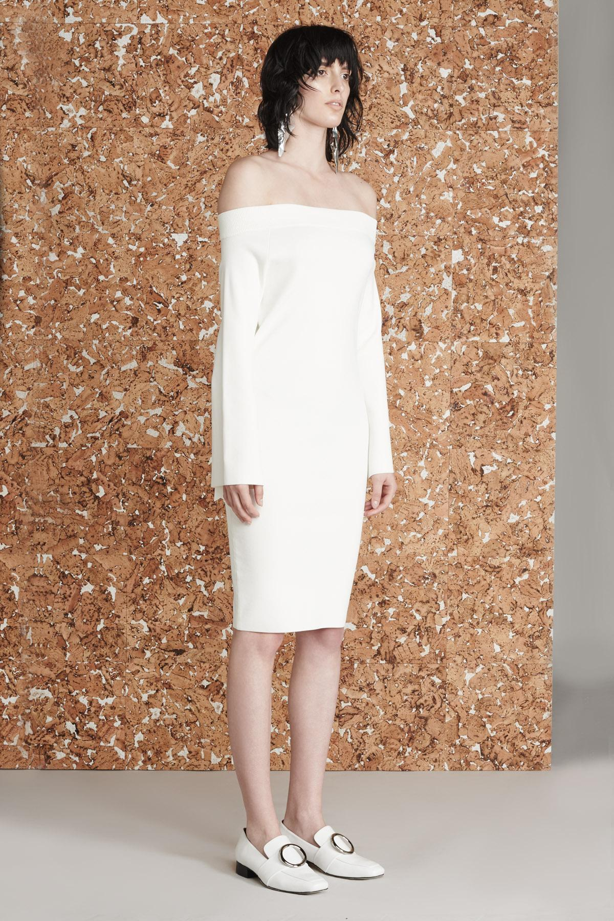 Lyst Solace London Lea Dress Cream