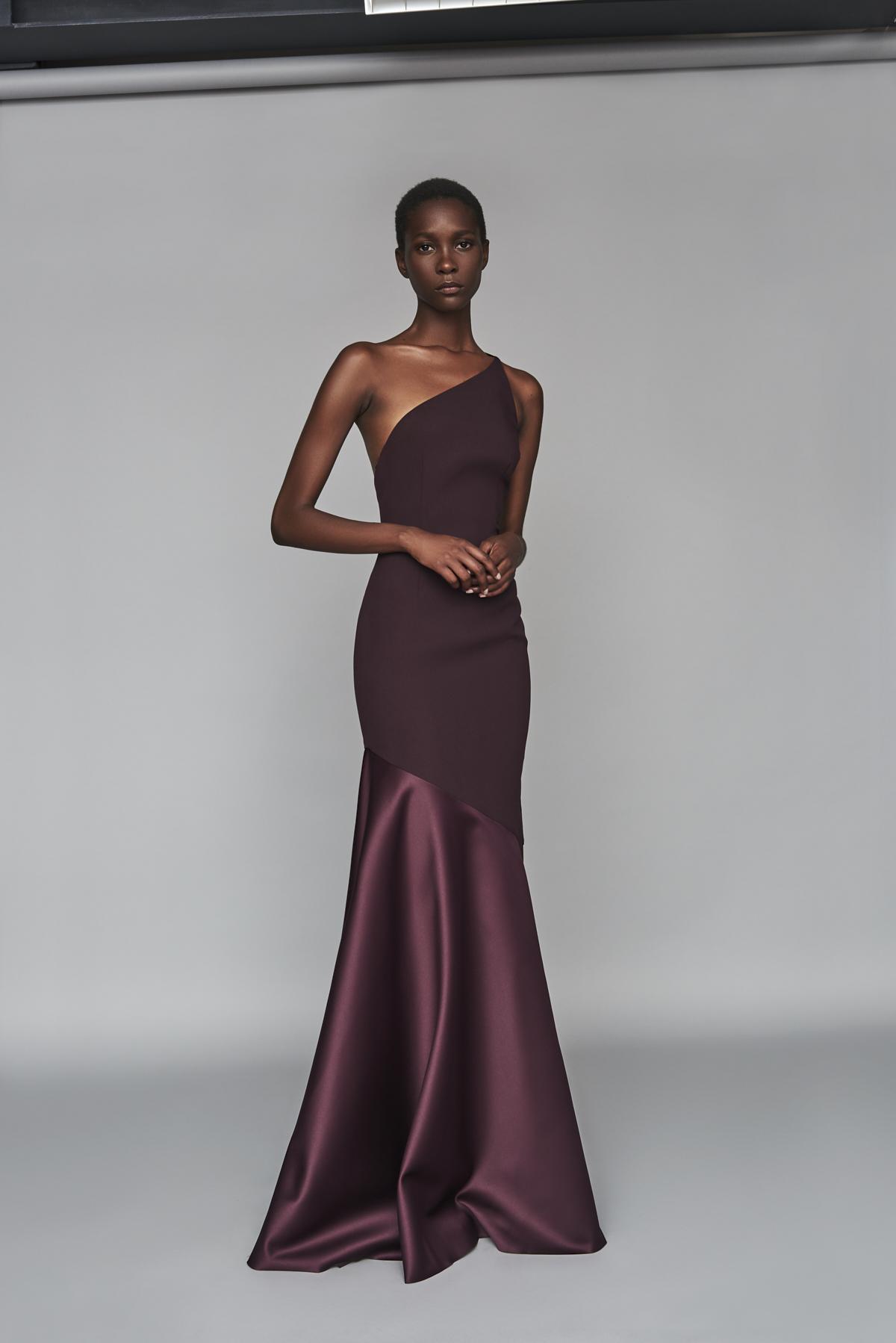 a681a3254bb Solace London Violeta Maxi Dress Aubergine - Lyst