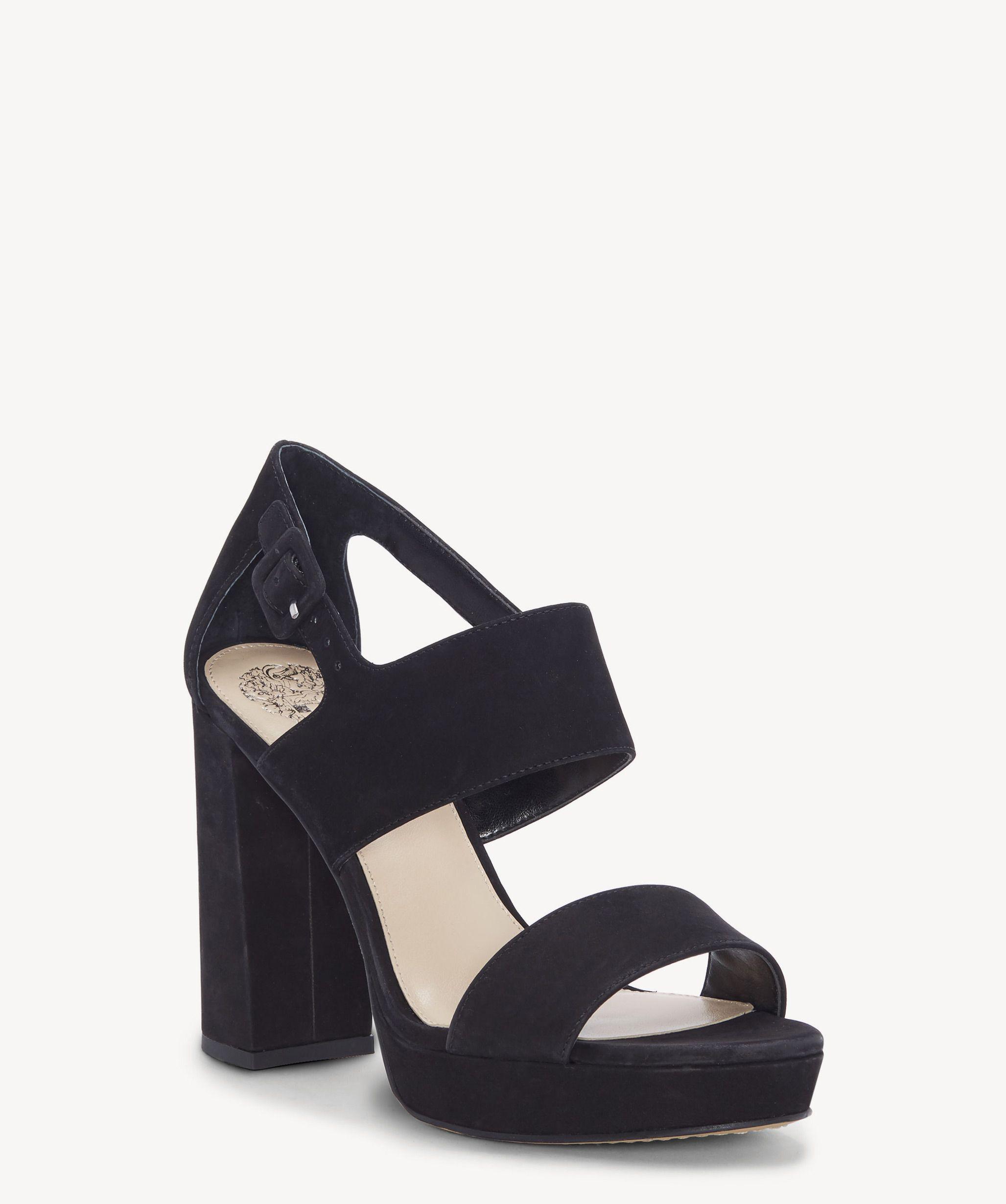 dcbec8a84e5 Lyst - Vince Camuto Jayvid Block Heel Sandal in Black - Save 50%