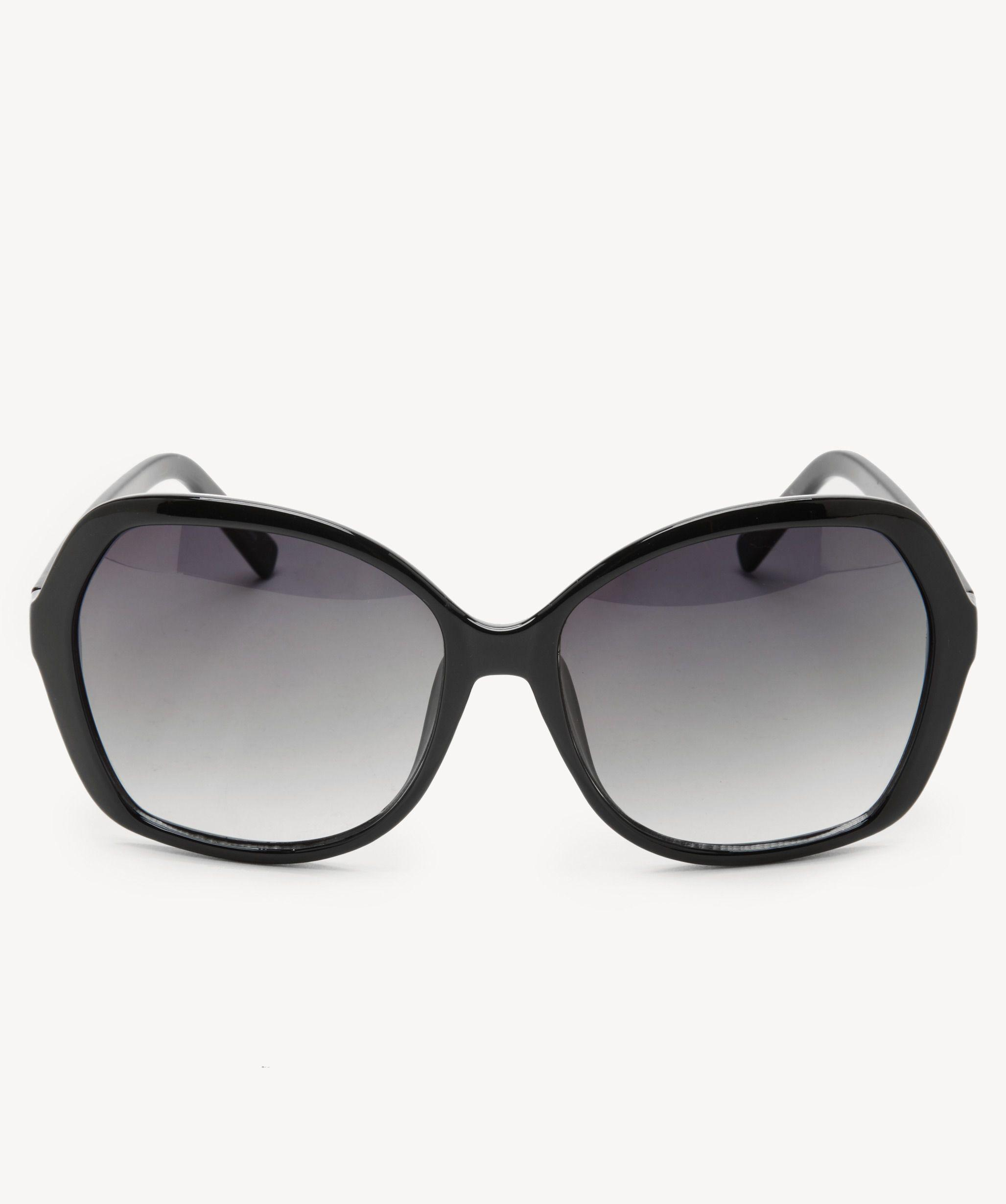 fce936499b0 Lyst - Sole Society Melo Oversize Square Frame Sunglasses in Black