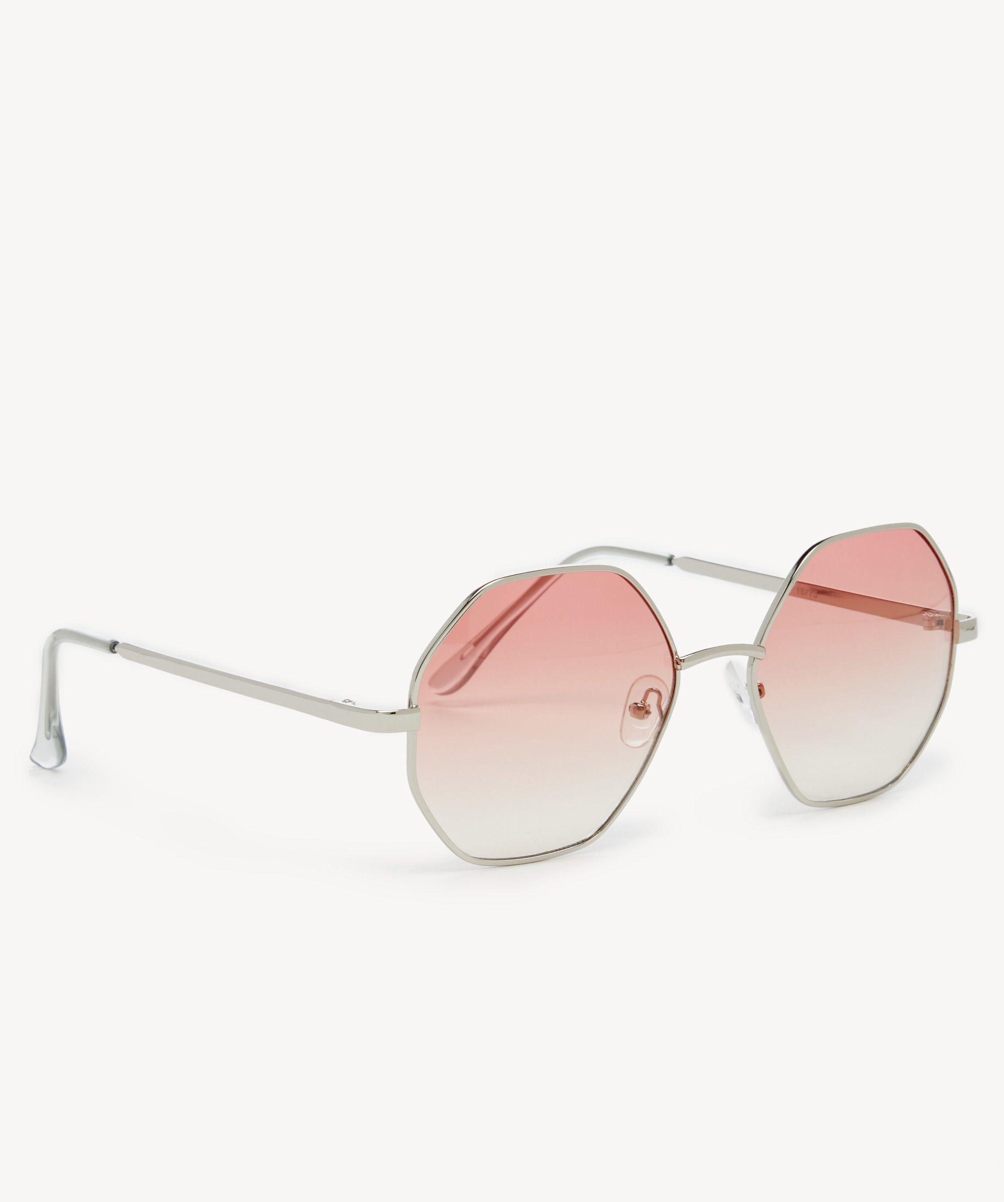 5ca8ab4117f Lyst - Sole Society Reeso Oversize Round Clear Lens Sunglasses