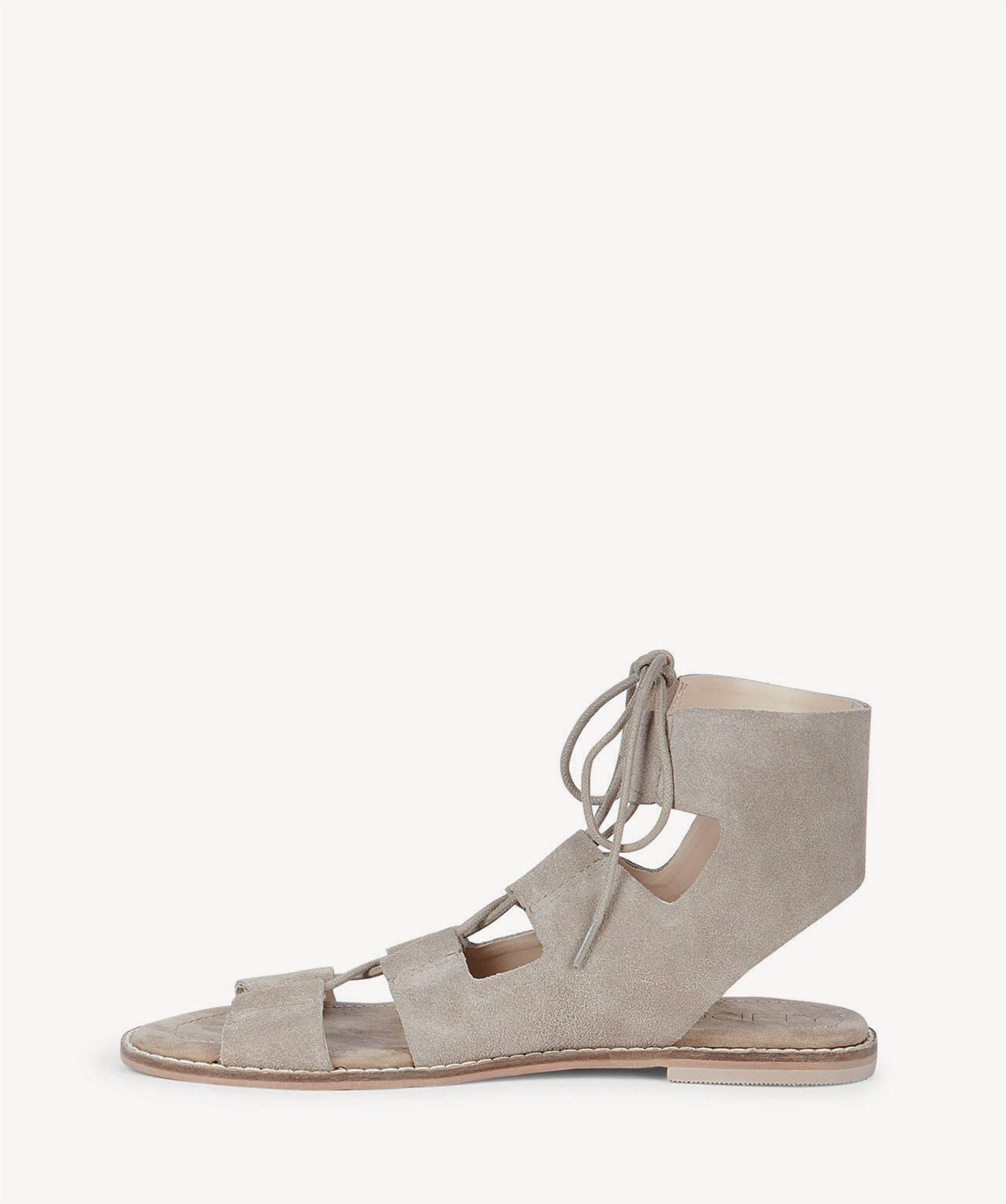 2330da02539 Lyst - Sole Society Cady Lace-up Flat Sandal in Natural