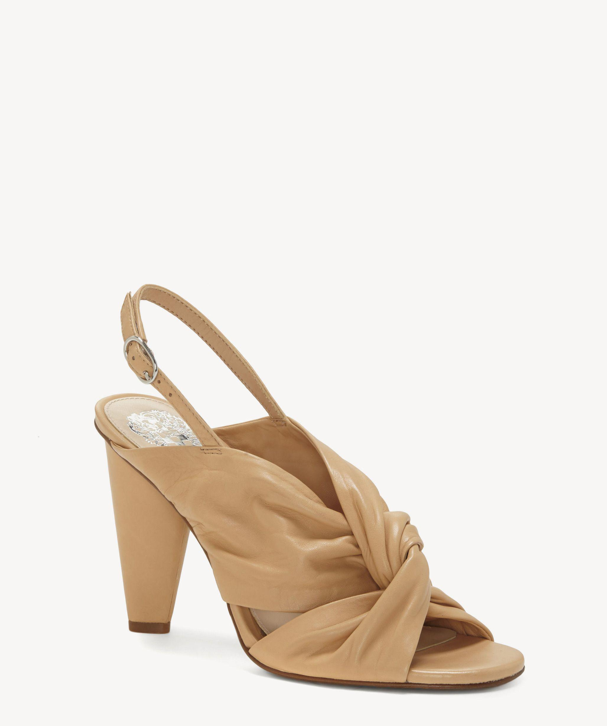 4070edb7439 Lyst - Vince Camuto Kattie Knotted Slingback Sandal in Natural ...