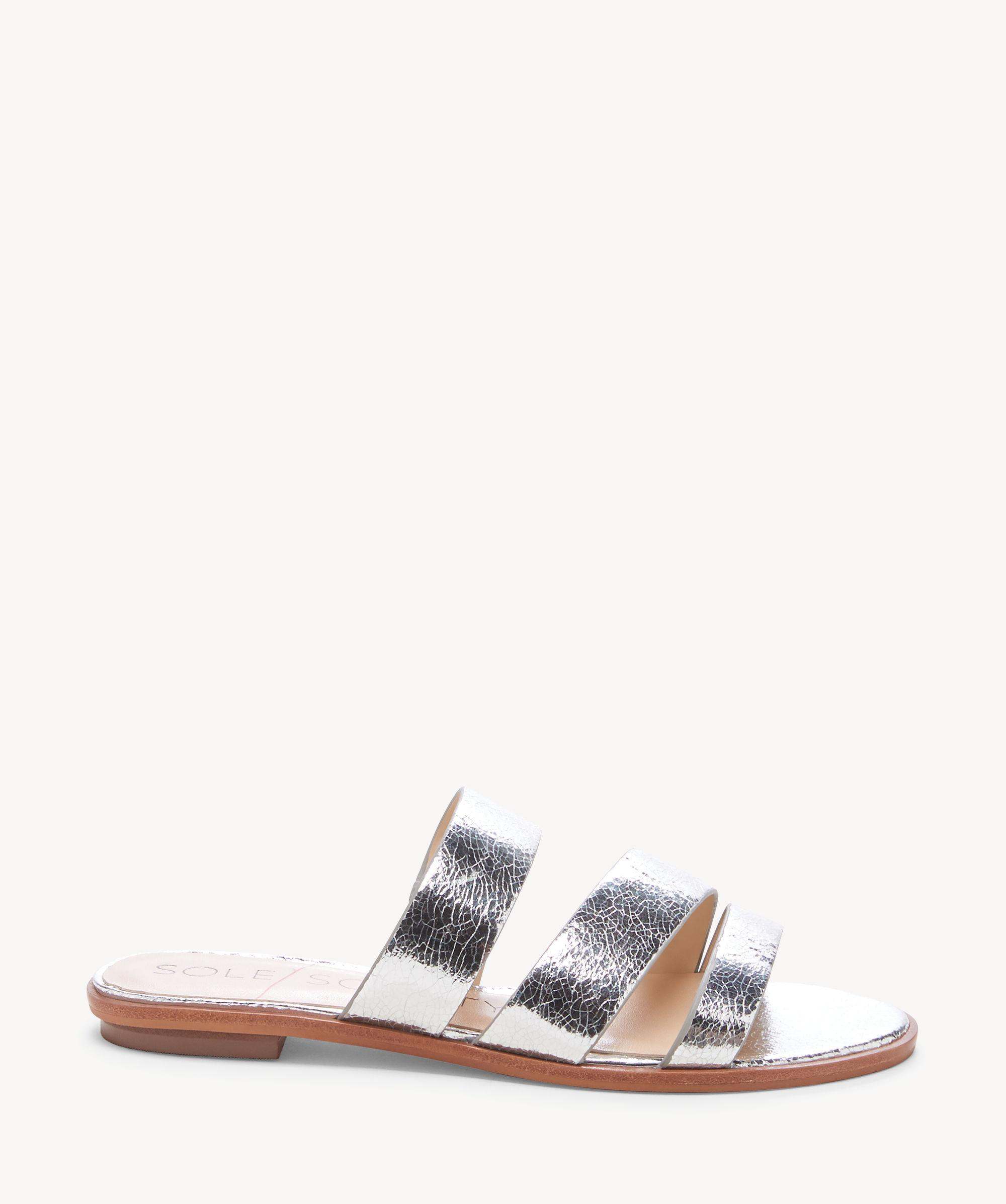d4e2bc0a1e44 Lyst - Sole Society Simonaa (gleaming Silver) Women s Sandals in ...