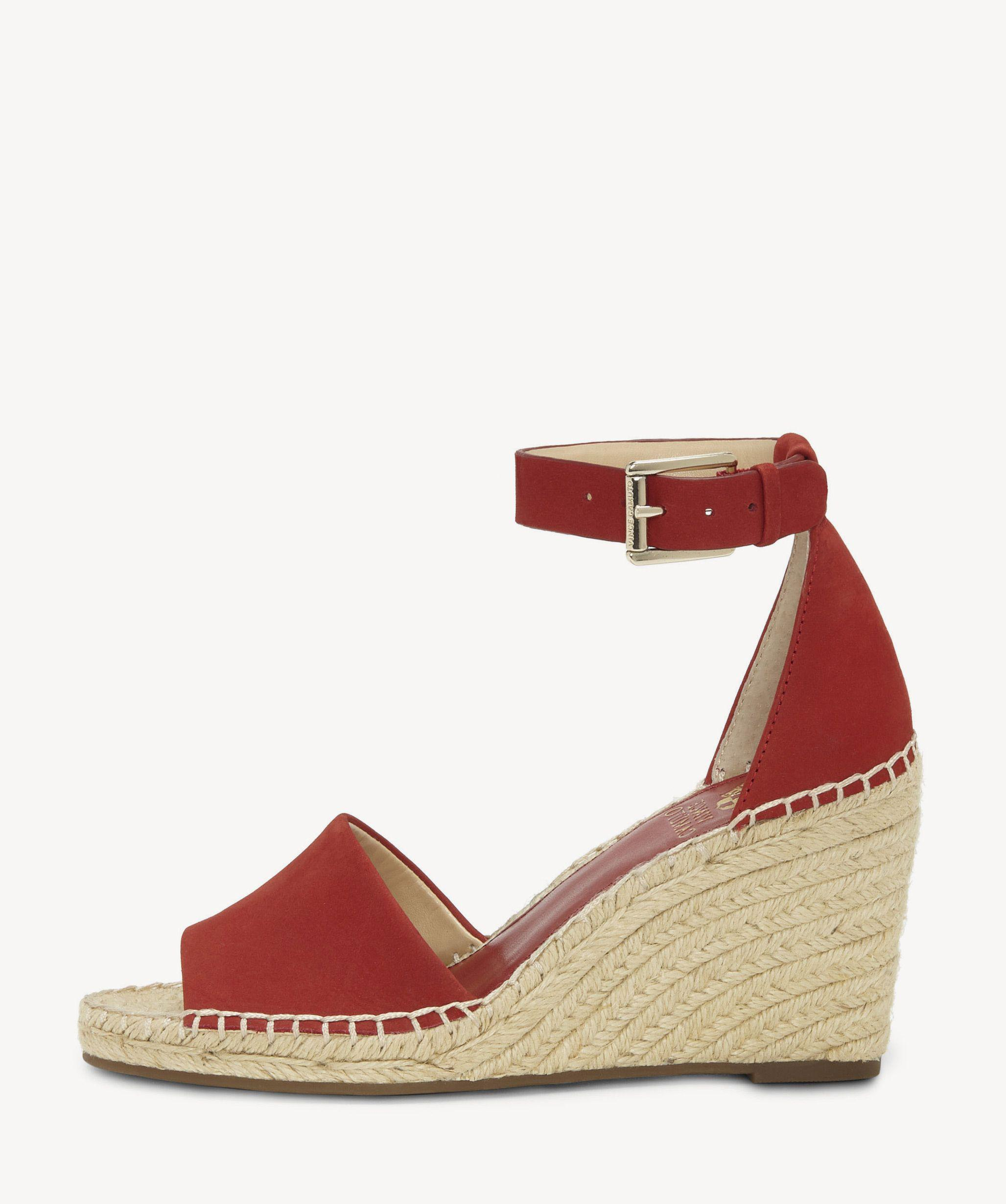 01c5ec081f Vince Camuto Leera Espadrille Wedge in Red - Save 1% - Lyst