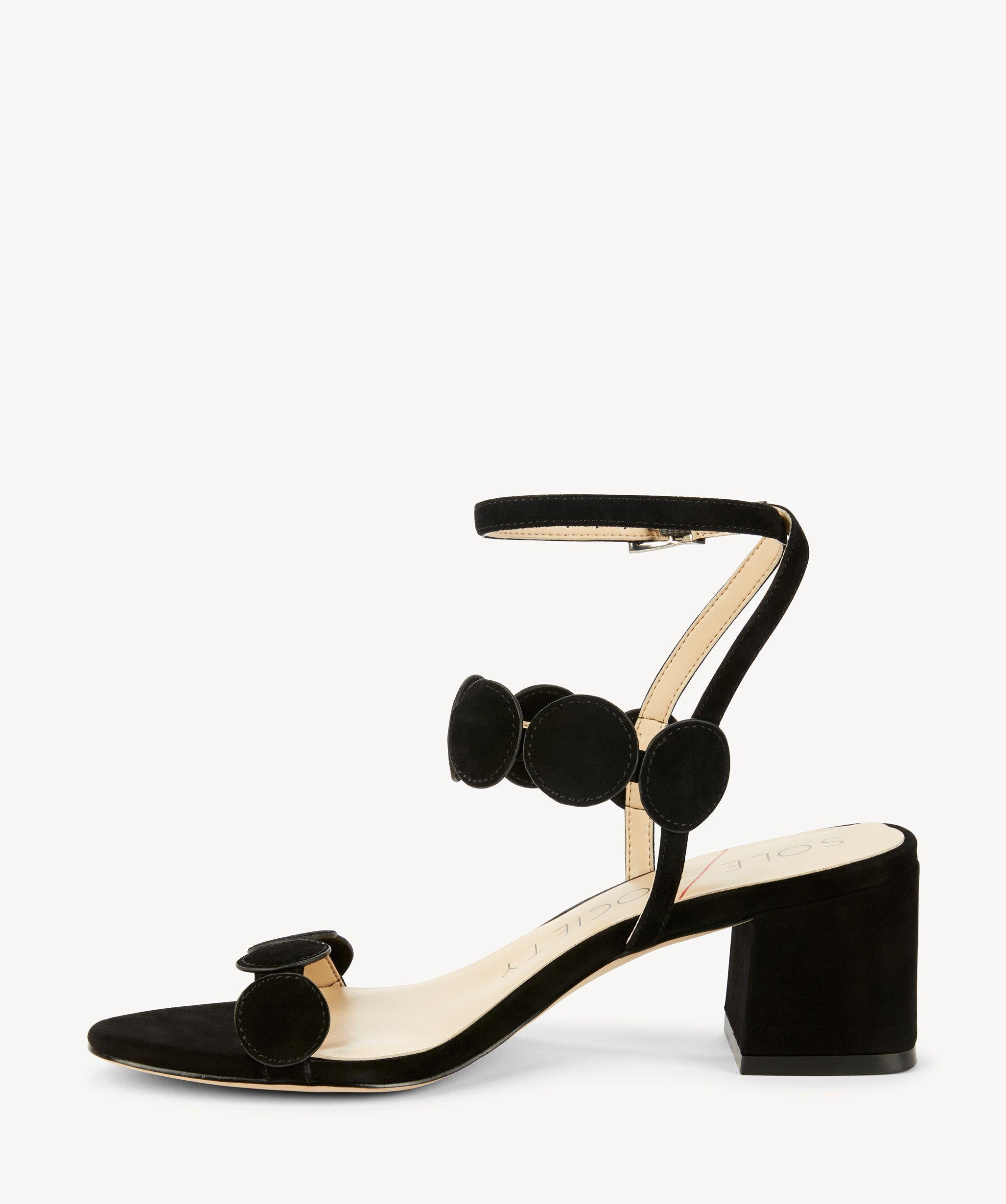 94b55144f6a1 Lyst - Sole Society Shea Strappy Heeled Sandal in Black
