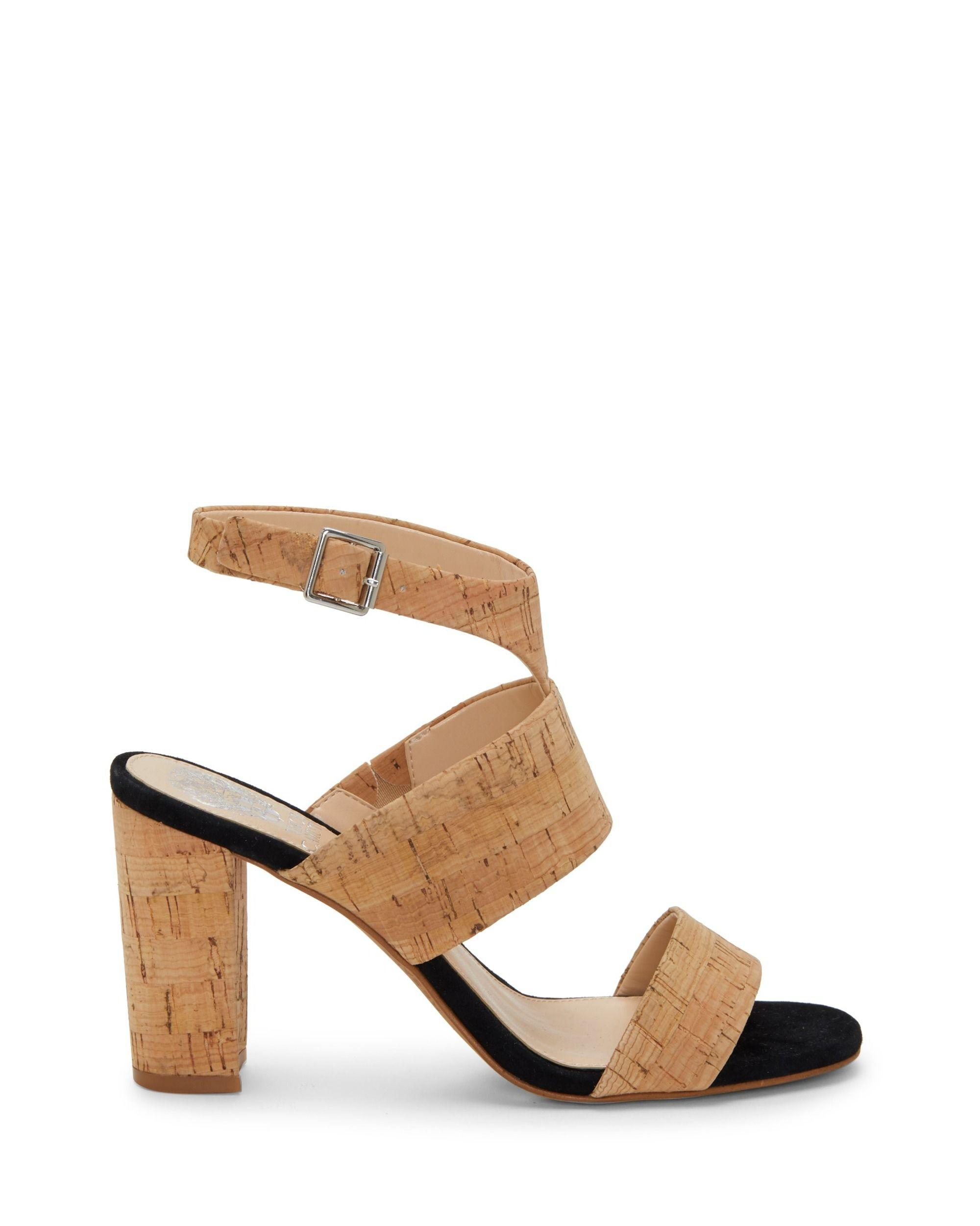 524eafeed41 Lyst - Vince Camuto Warma Ankle Strap Sandal in Natural - Save 1%