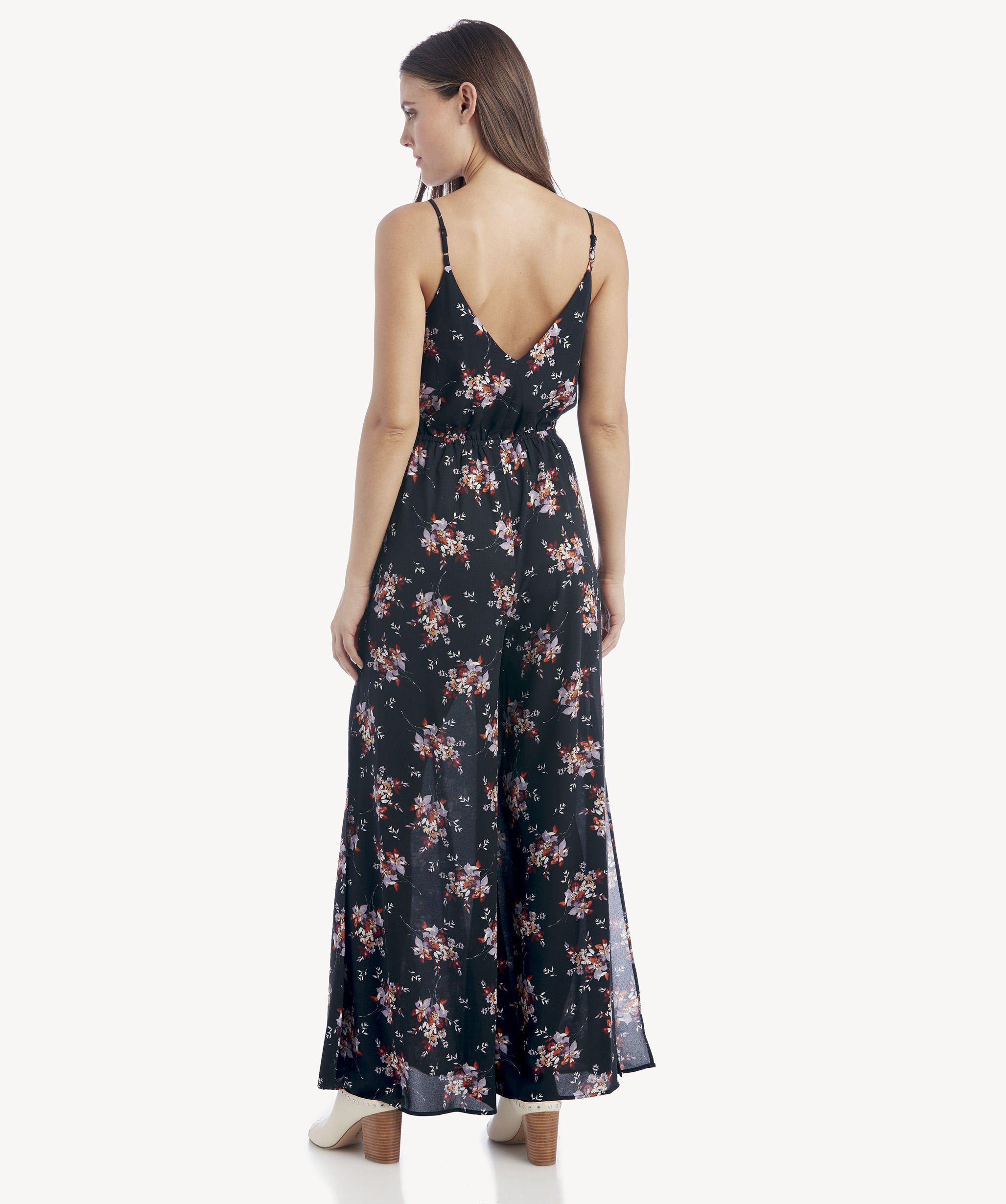 1cca360c469 Lyst - 1.STATE Wildflower Wrap Front Jumpsuit W  Slits in Black
