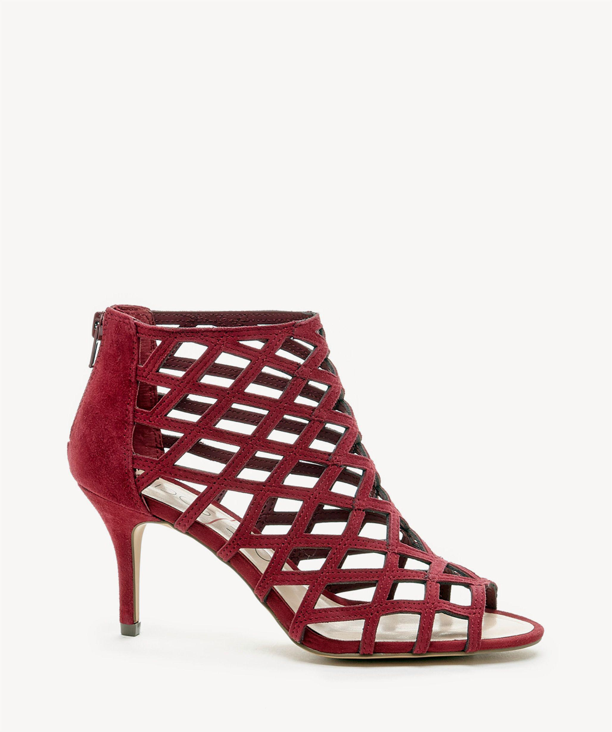 bb4f02d4399 Sole Society Red Portia Caged Mid Heel