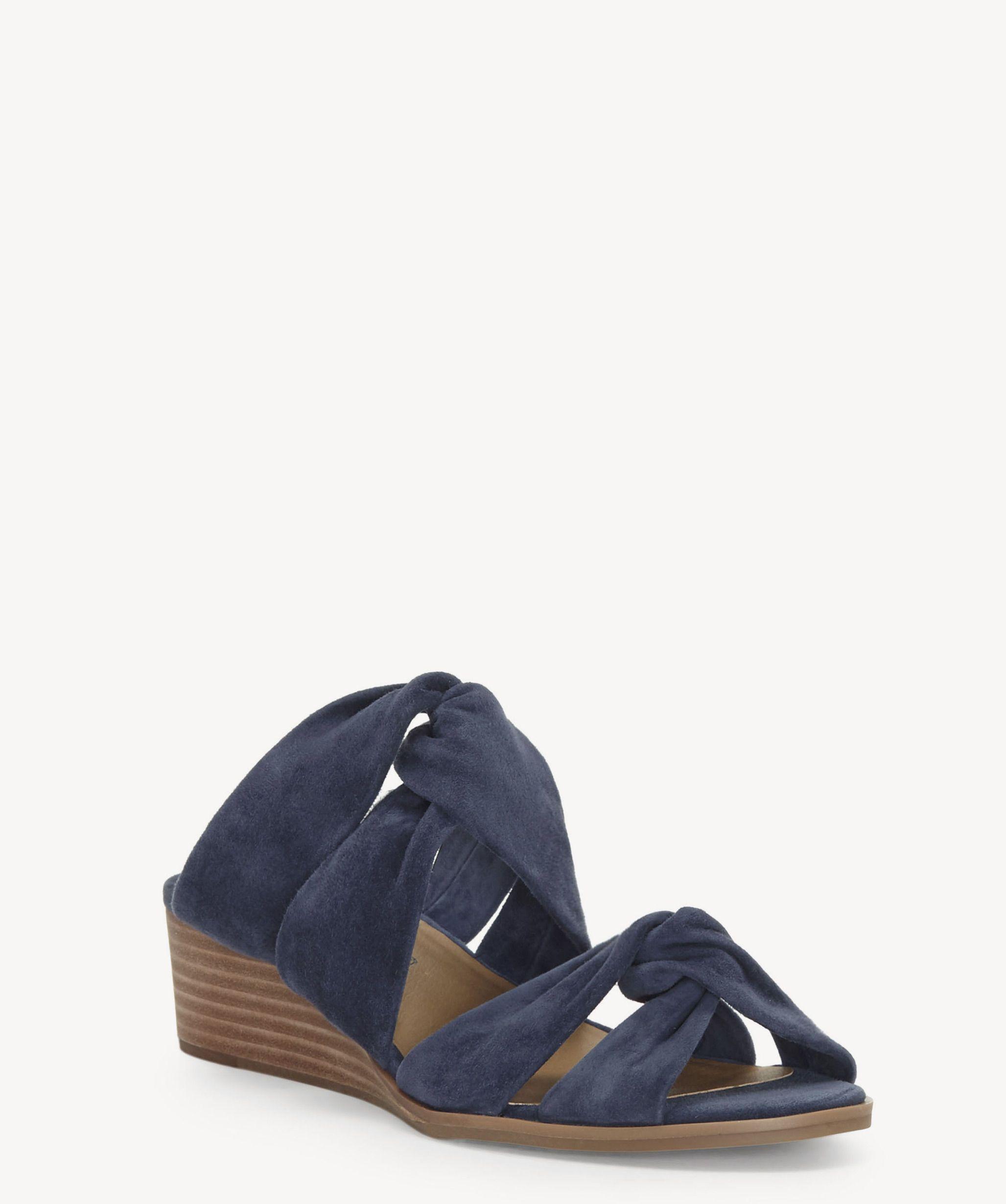 Lucky Brand Rhilley Suede Wedge Sandals 0v2V7Ob5
