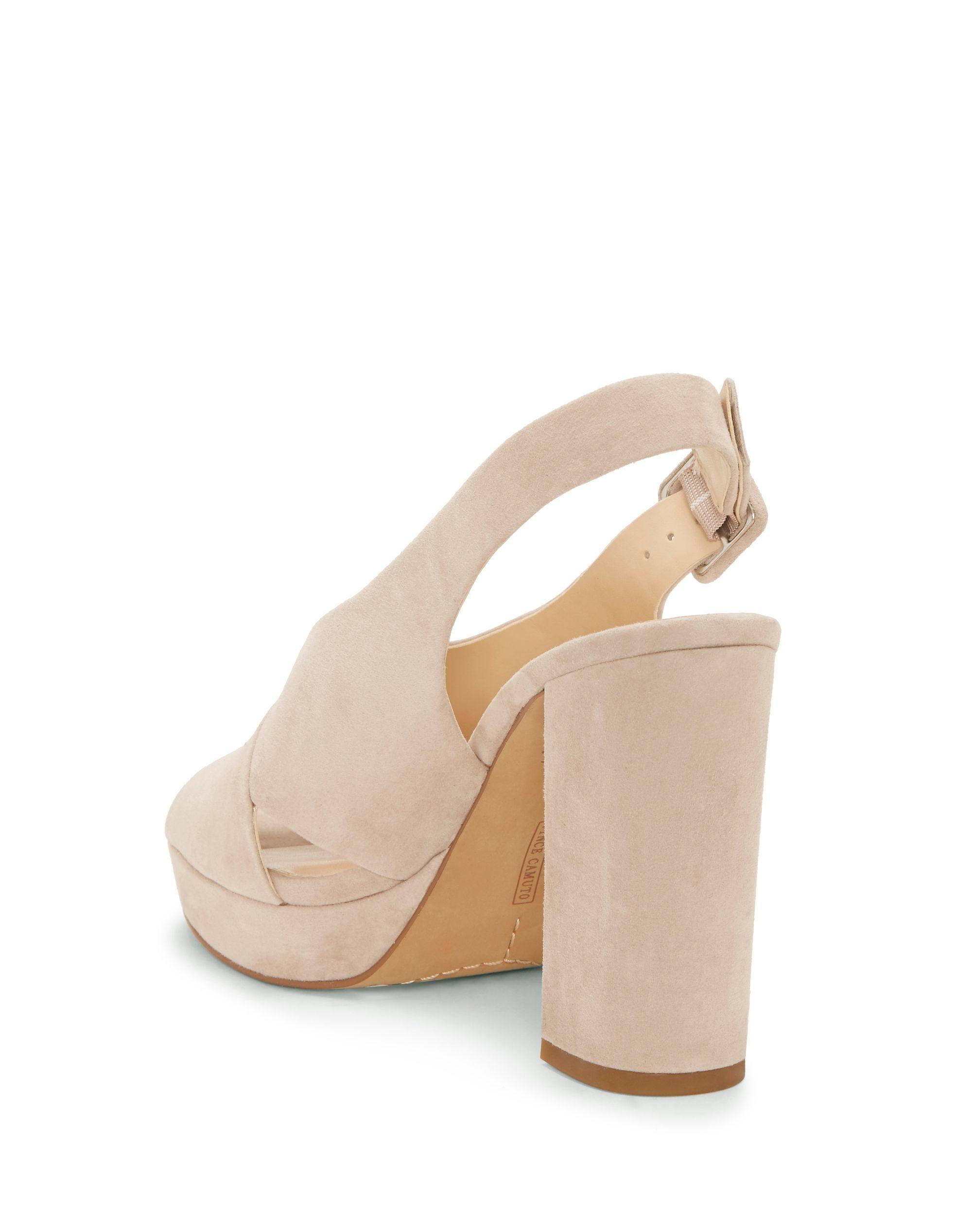 6f016c75552 Lyst - Vince Camuto Javasan – Platform Sandal in Natural - Save 1%