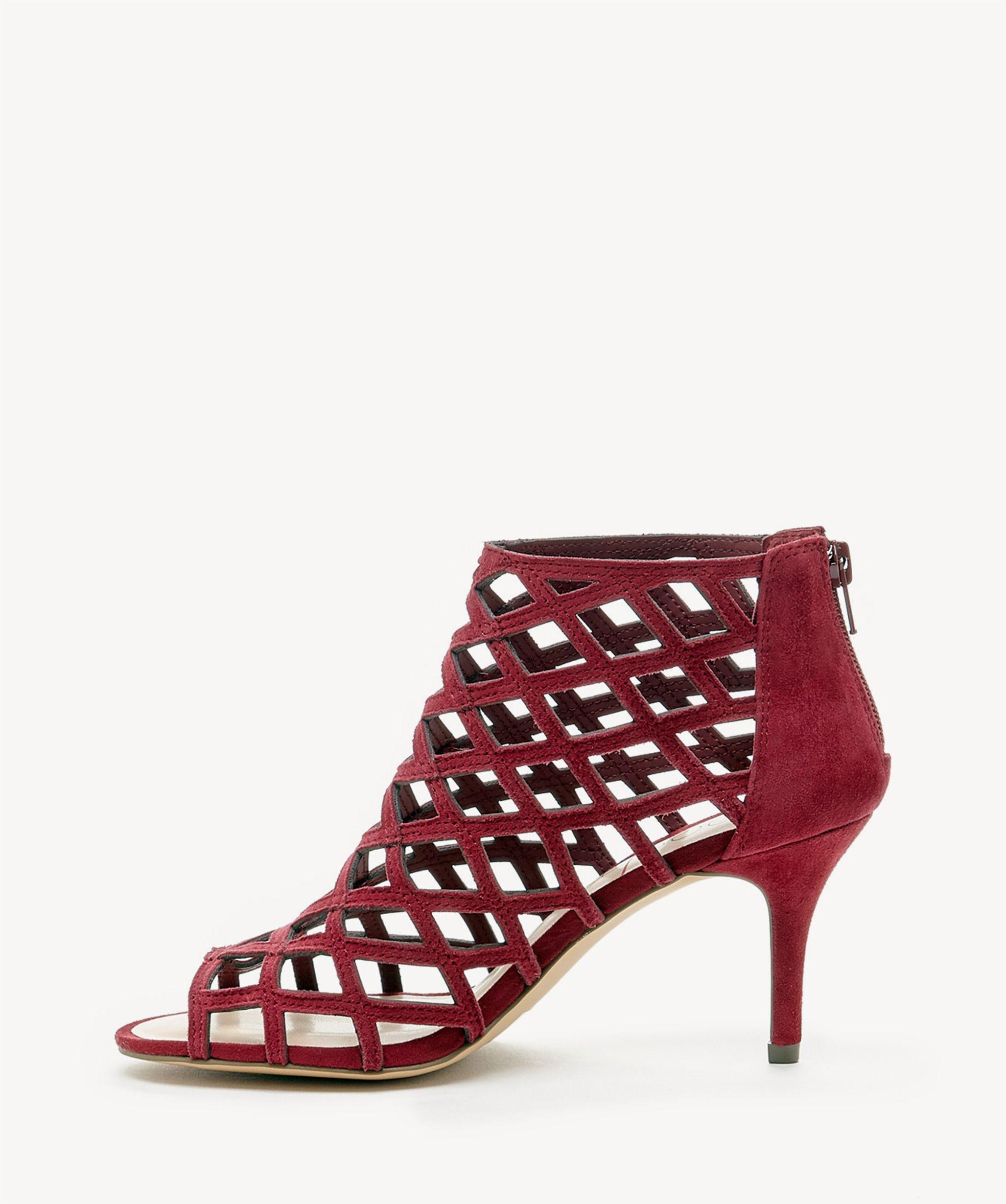 0192d04e84b0 Lyst - Sole Society Portia Caged Mid Heel in Red