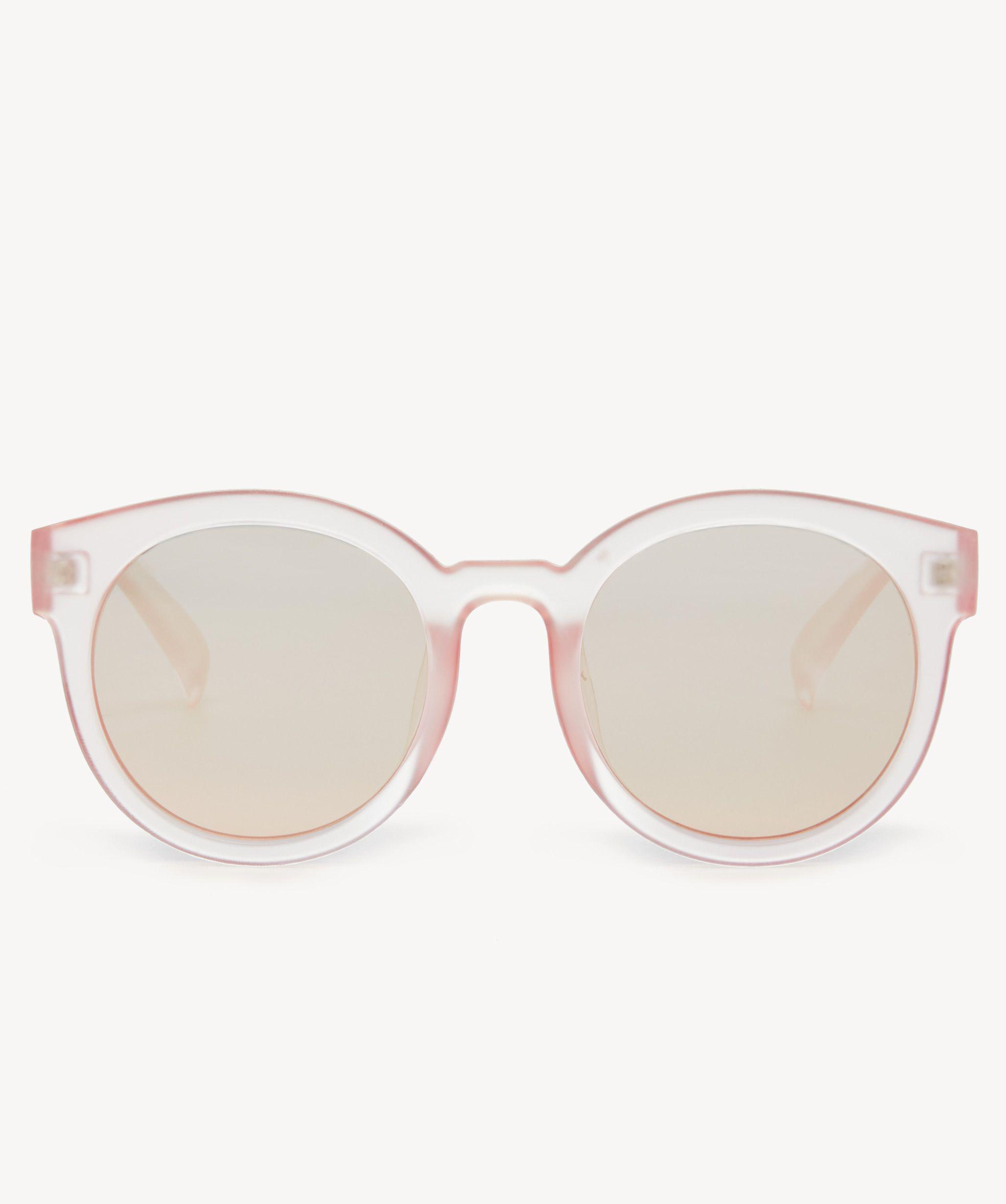 1e5fc65955d Lyst - Sole Society Janey Oversize Frosted Sunglasses in Pink
