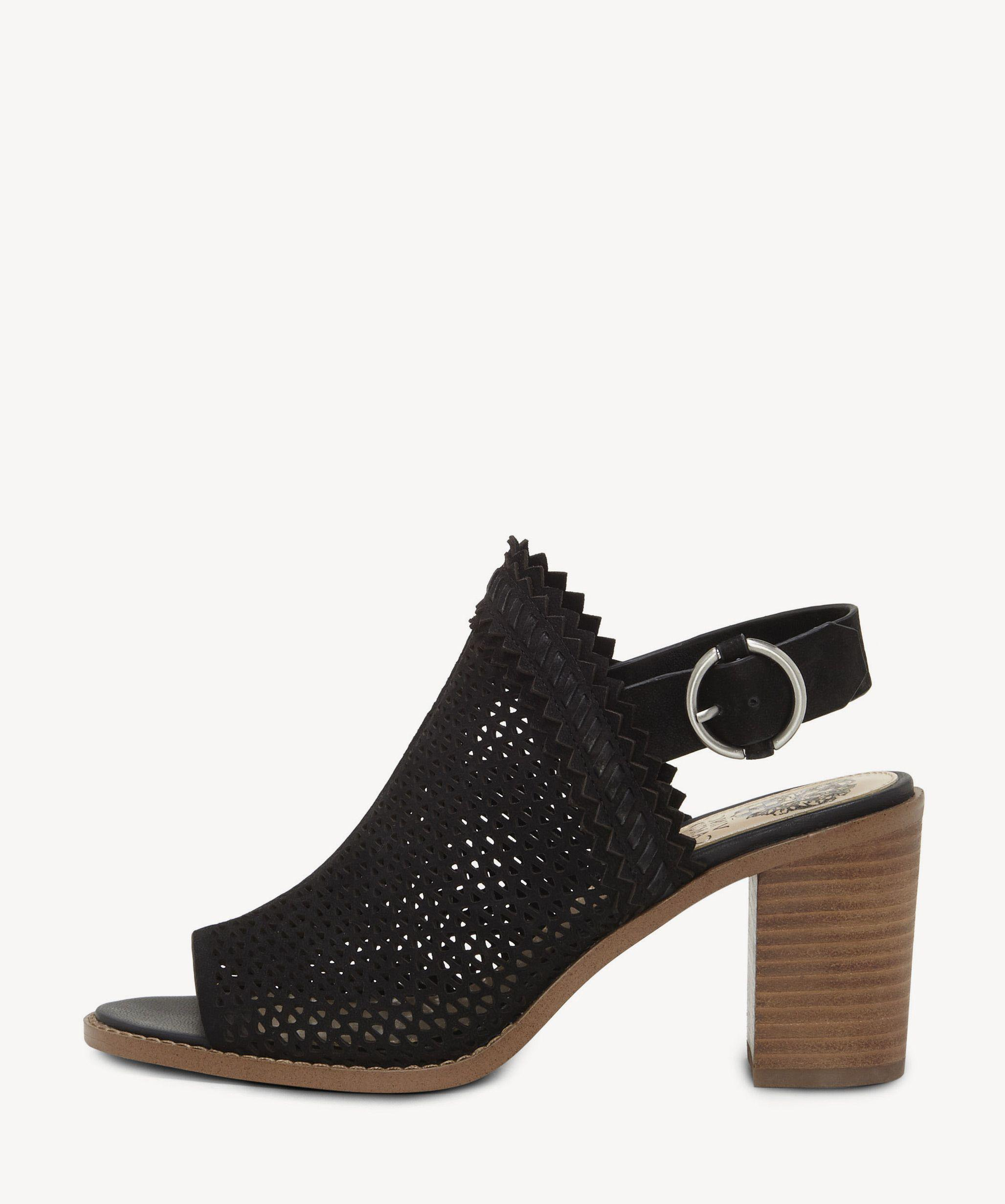 71c1648d386 Lyst - Vince Camuto Tricinda Slingback Block Heel Sandal in Black - Save  41.52542372881356%