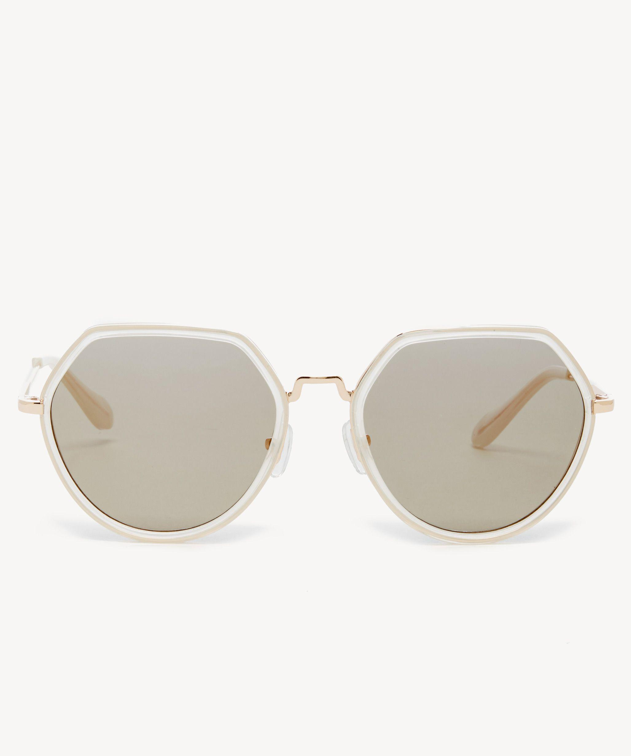 653cff56adc Lyst - Sole Society Roswel Oversize Square Frame Sunglasses