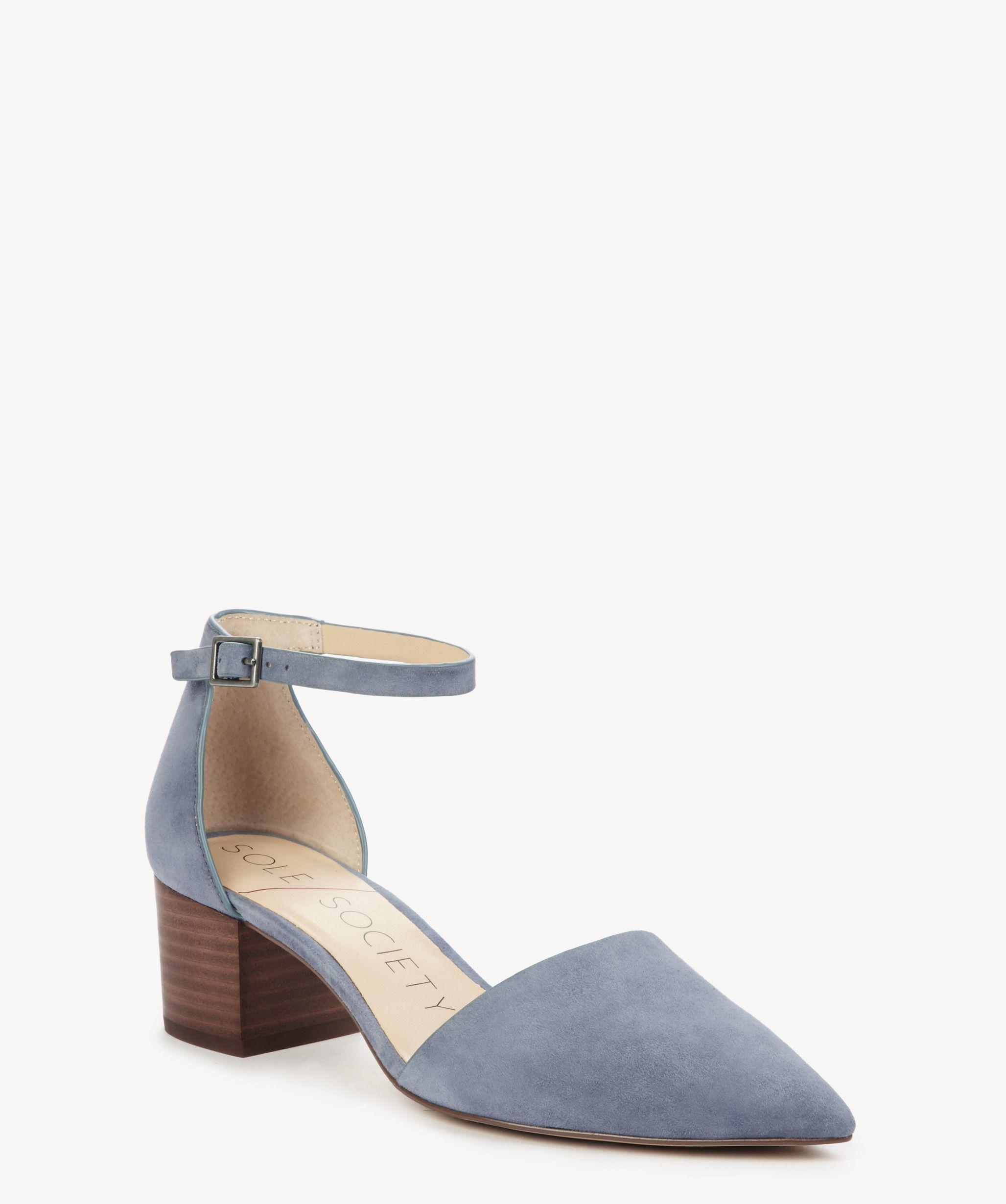bfd505a17b3 Lyst - Sole Society Katarina Two Piece Block Heel Pump in Blue