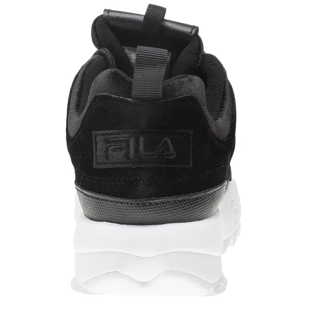 8c7db8fabe Fila Disruptor Ii Premium Velour Trainers in Black for Men - Lyst