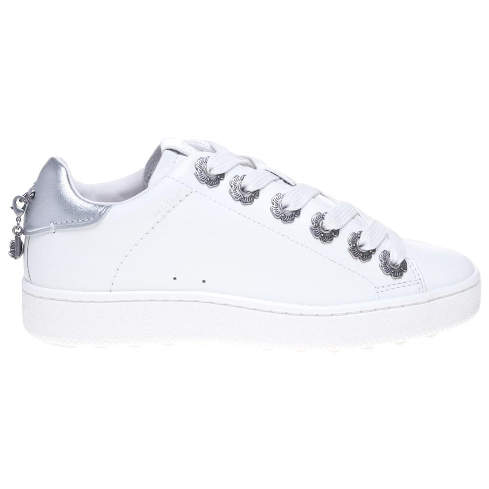 6ac3f53f33fb COACH - White C101 With Tea Rose Eyelets Trainers - Lyst. View fullscreen
