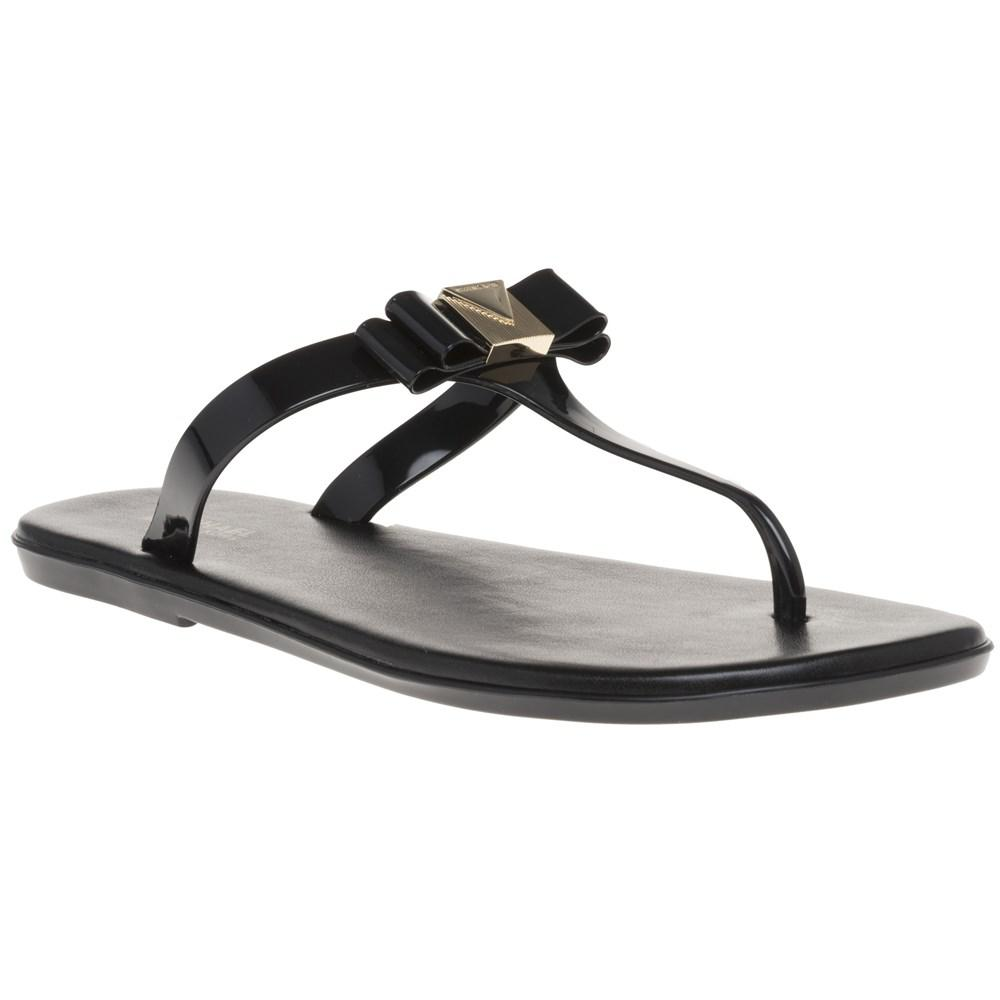0515877c9030 Michael Kors Jelly Thong Sandals in Black - Lyst