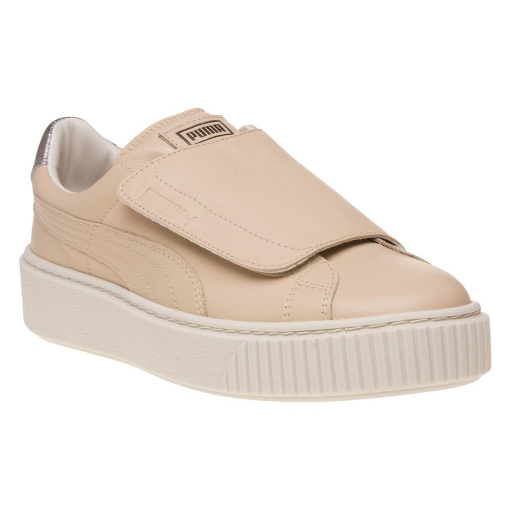 8b20591dd02311 PUMA Platform Strap Up Trainers in Natural - Lyst