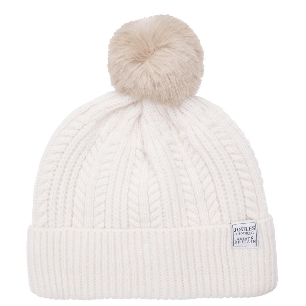 359410ab0 Joules Bobble Hat Beanie in Natural - Lyst