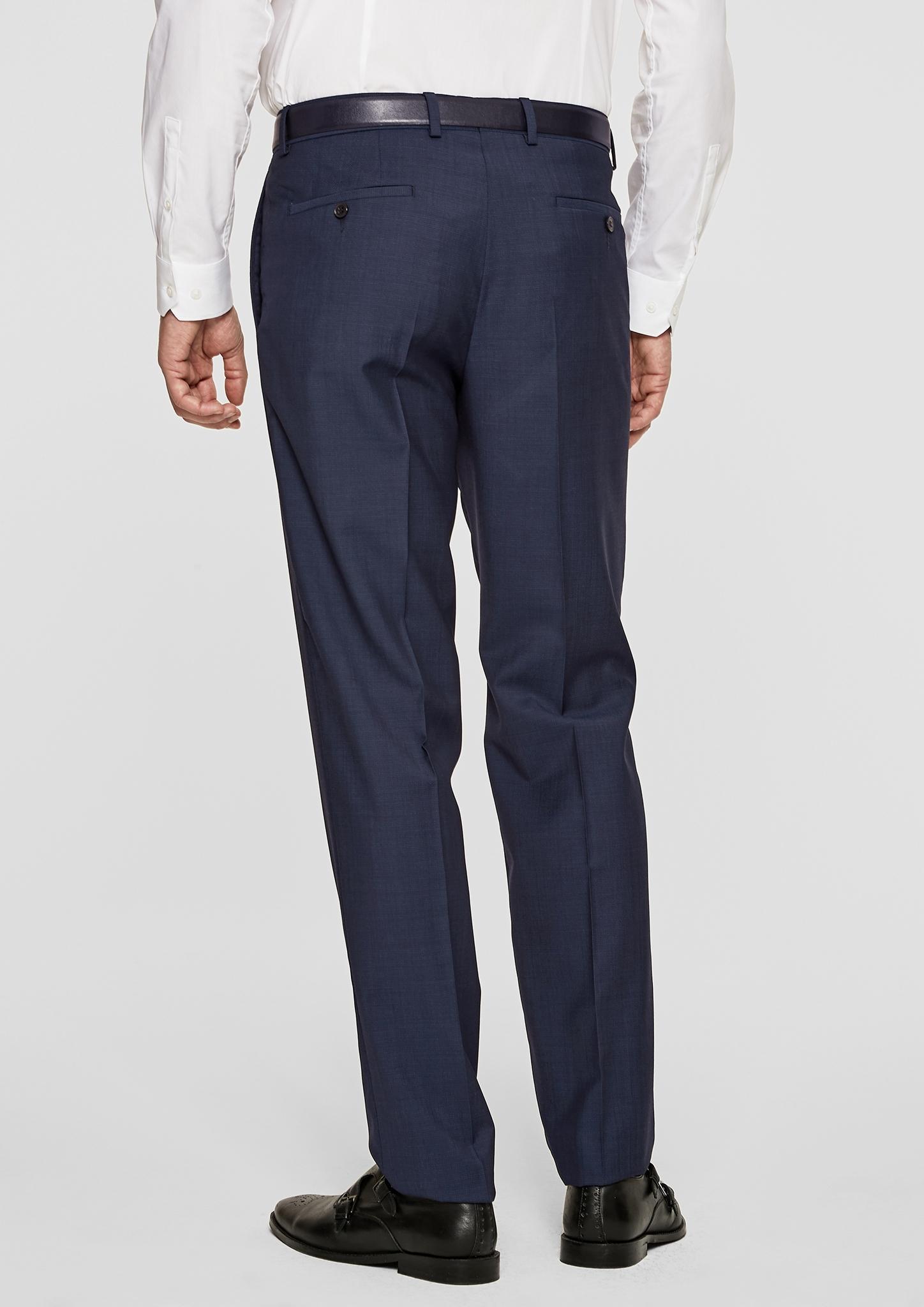 S.oliver Regular Fit: Hose aus Schurwoll-Blend in Blau für Herren
