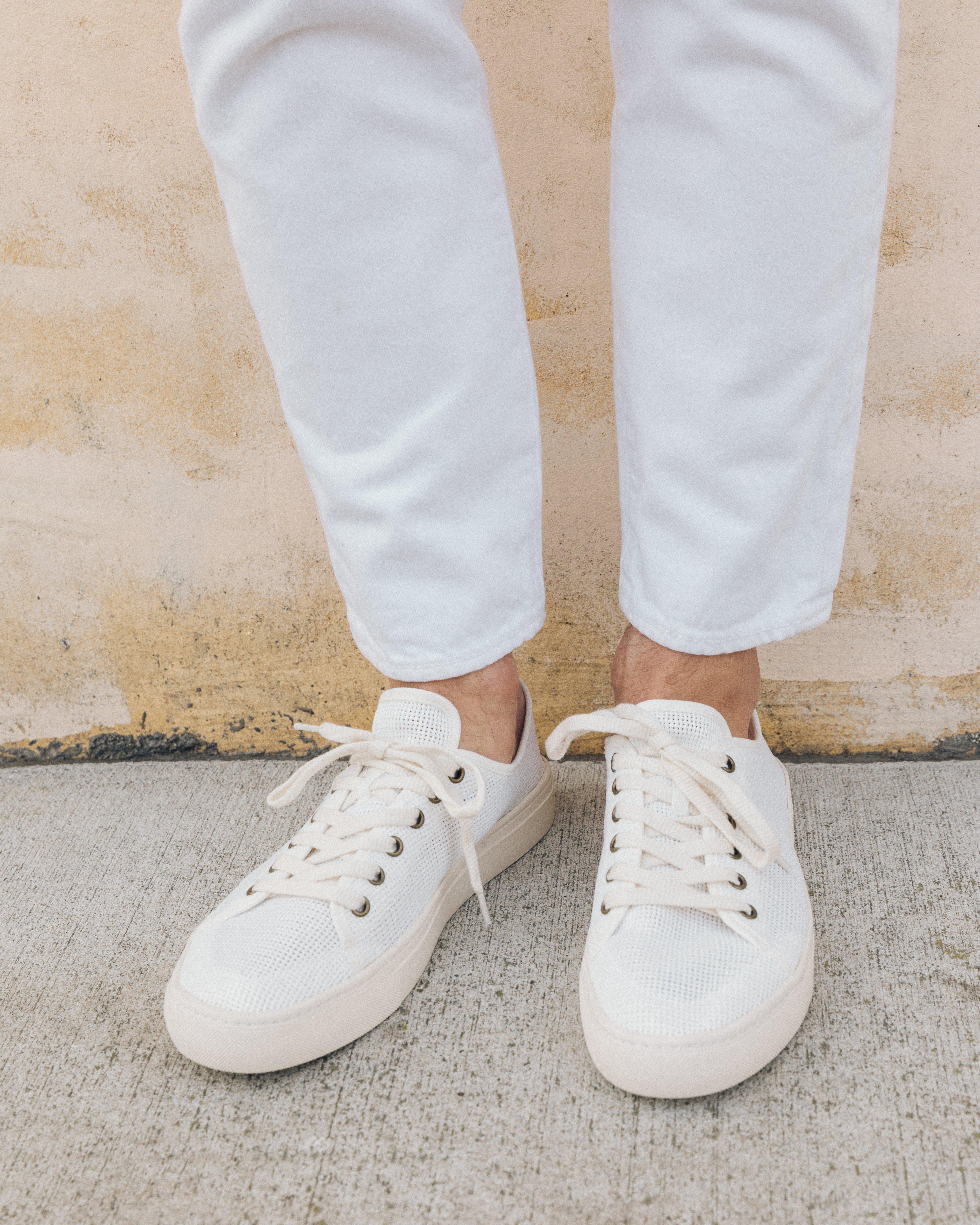 9cb72419f2e40 Soludos White Mesh Tennis Sneaker for men